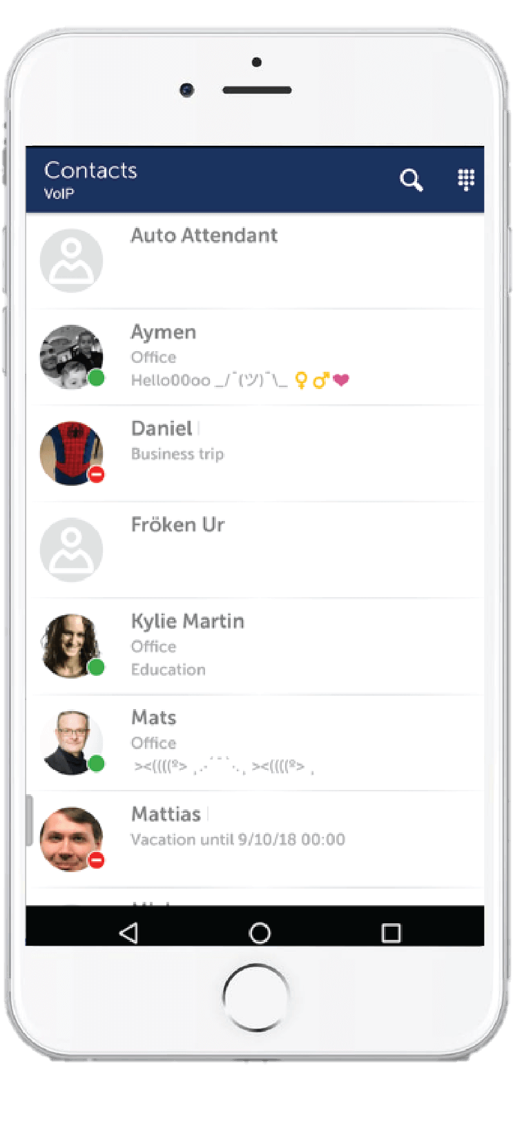 MiCloud Telepo app.