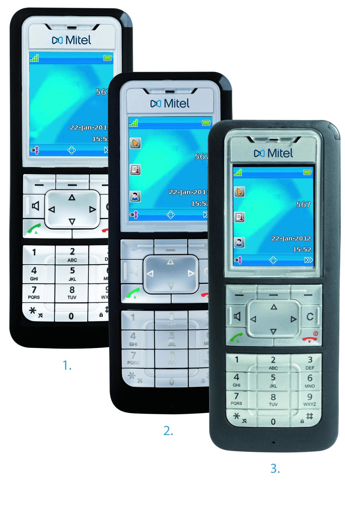 Mitel trådløse telefoner.