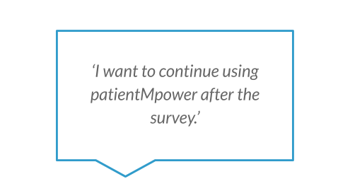 'I want to continue using patientMpower after the survey.'  .png