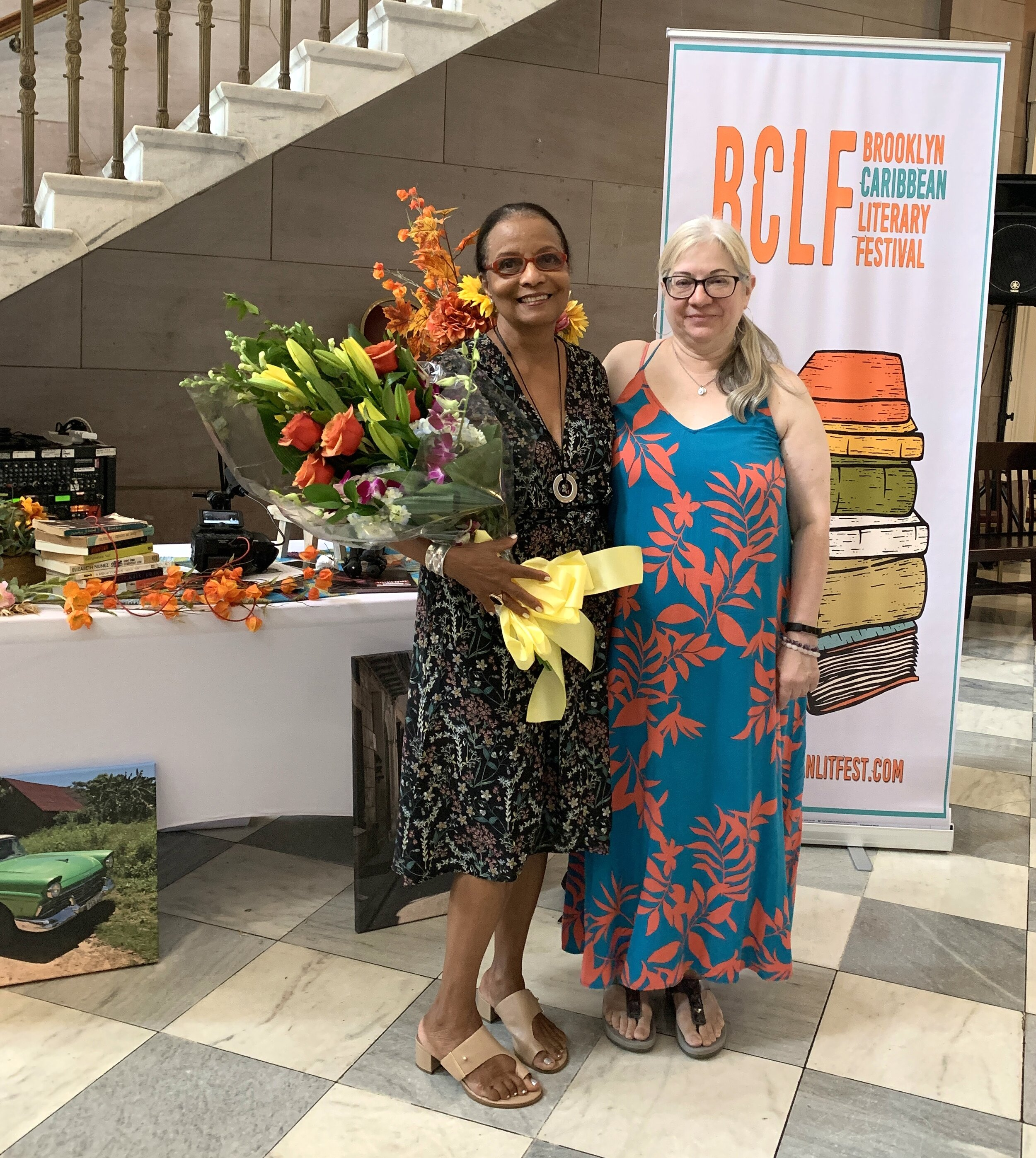 Dr. Elizabeth Nunez and 2019 winner of the BCLF Emergent Writer's Short Story Competition,  Amina Susi-Ali