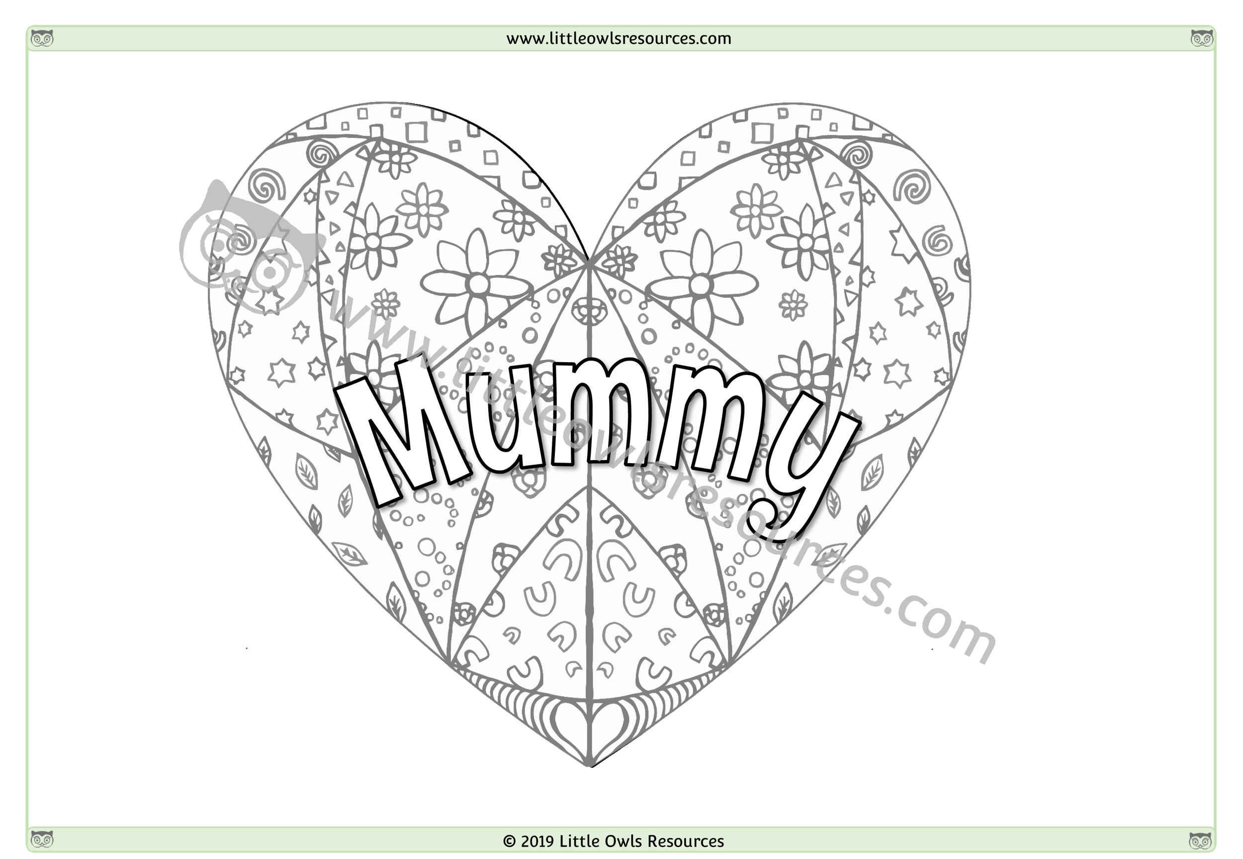 Mother's Day Colouring 2 -