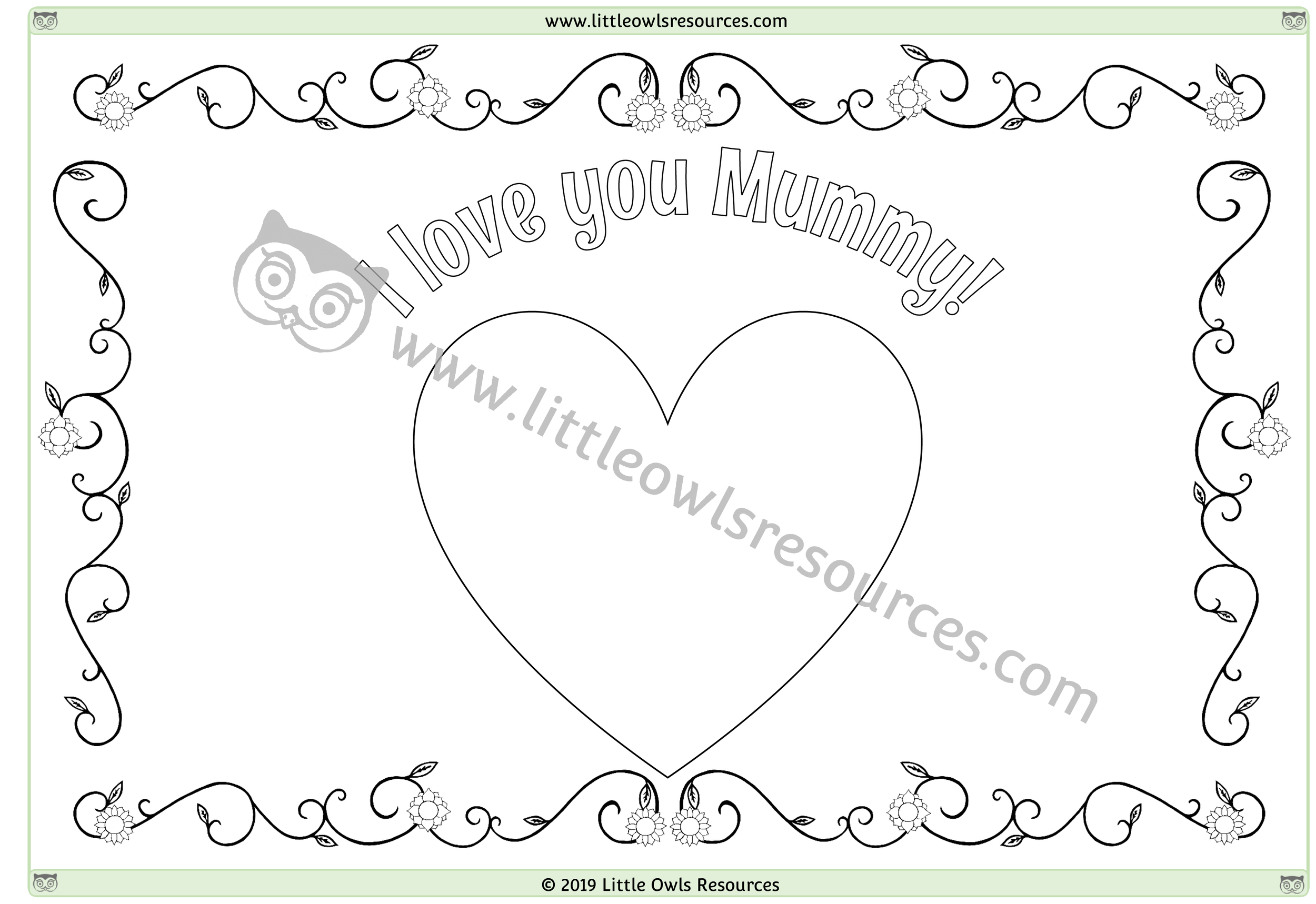 Mother's Day Colouring 4 -