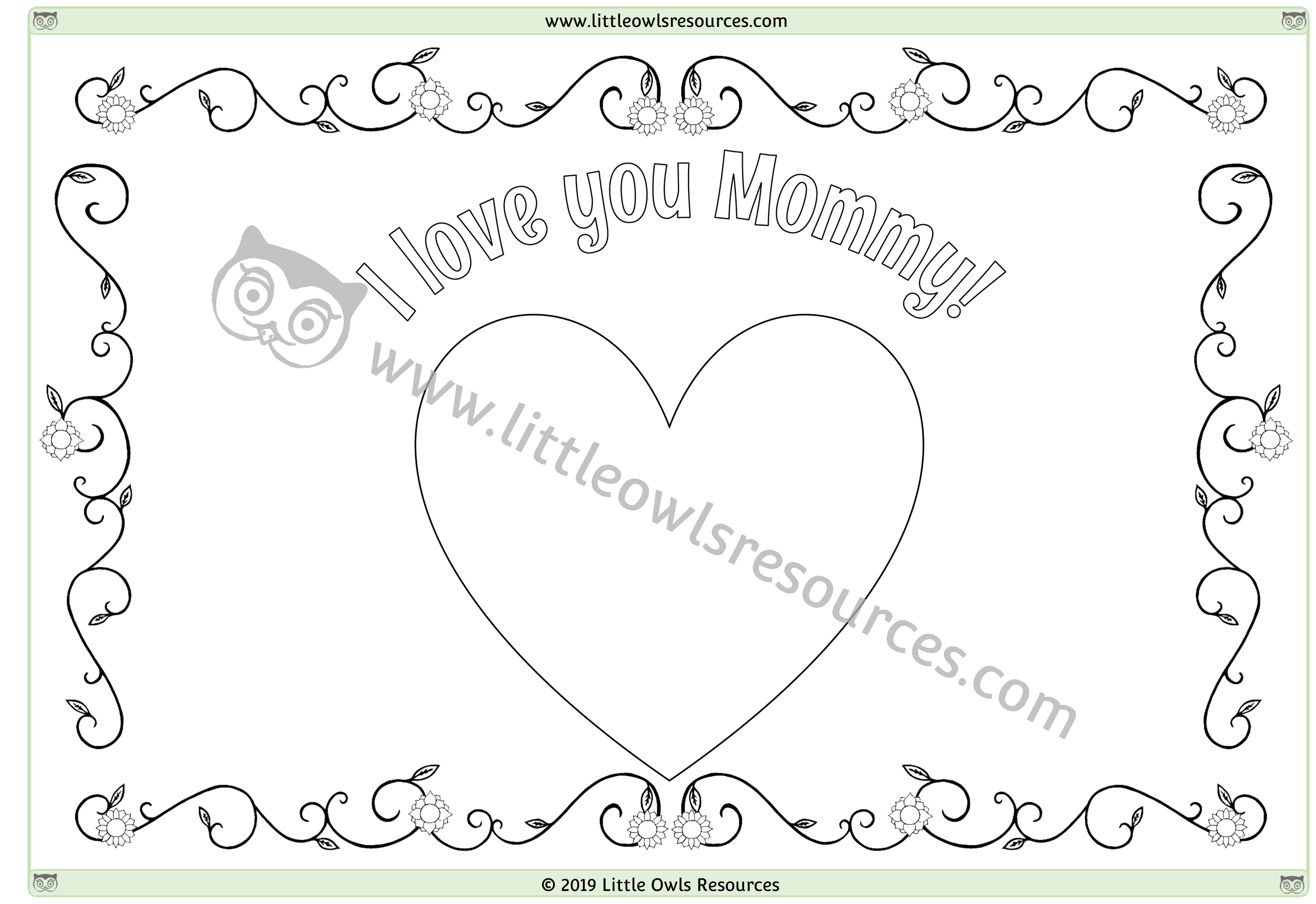Mother's Day Colouring 5 -
