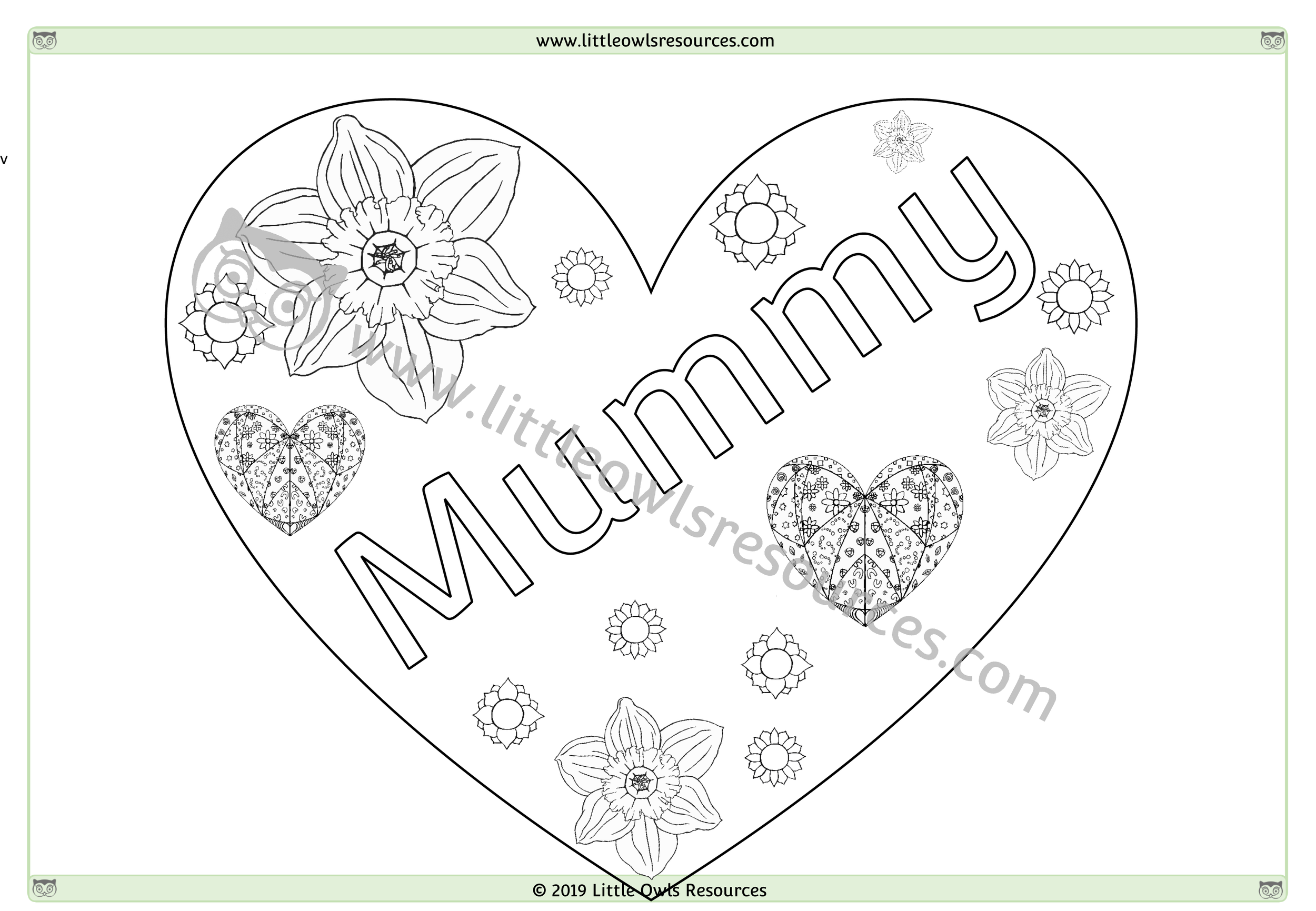 Mother's Day Colouring 6 -