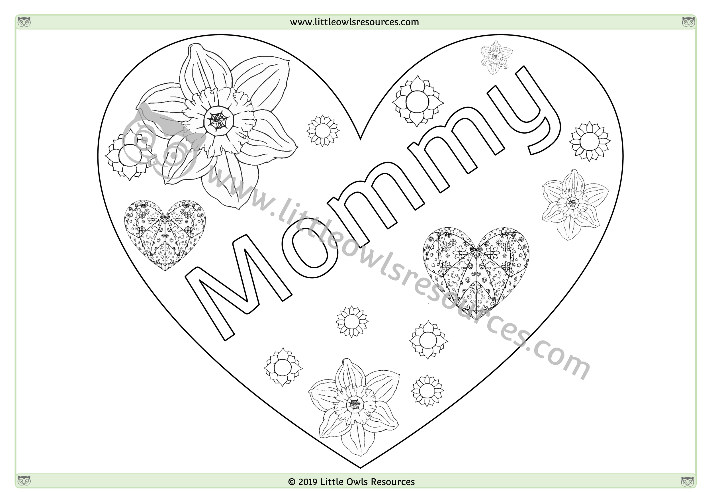 Mother's Day Colouring 7 -