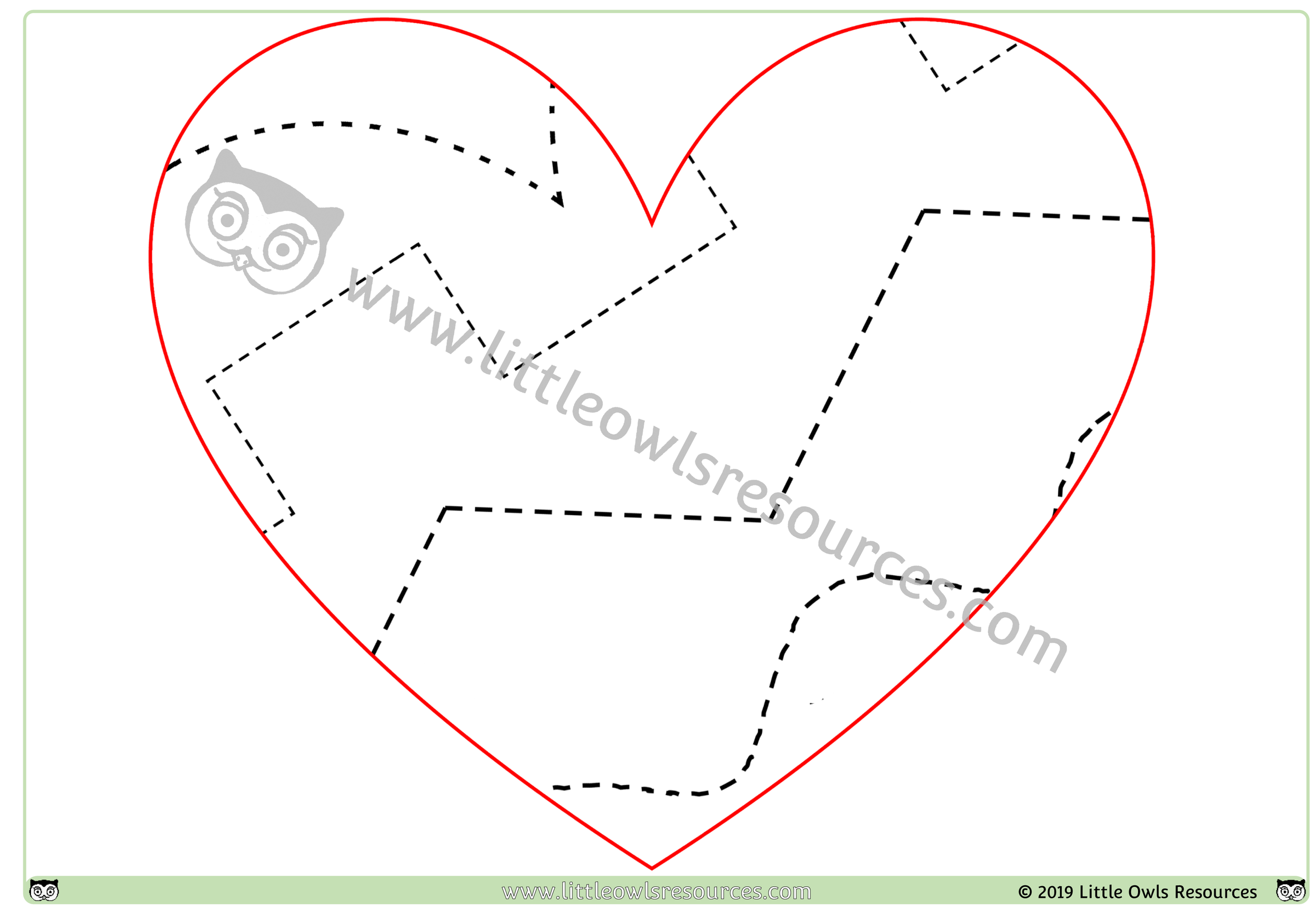 Fine Motor Control Heart 1 - So versatile!1. Cut along lines 2. Draw along lines 3. Place loose parts on lines/in sections to create a work of art 4. Stick collage materials on lines/in sections to create a work of art…