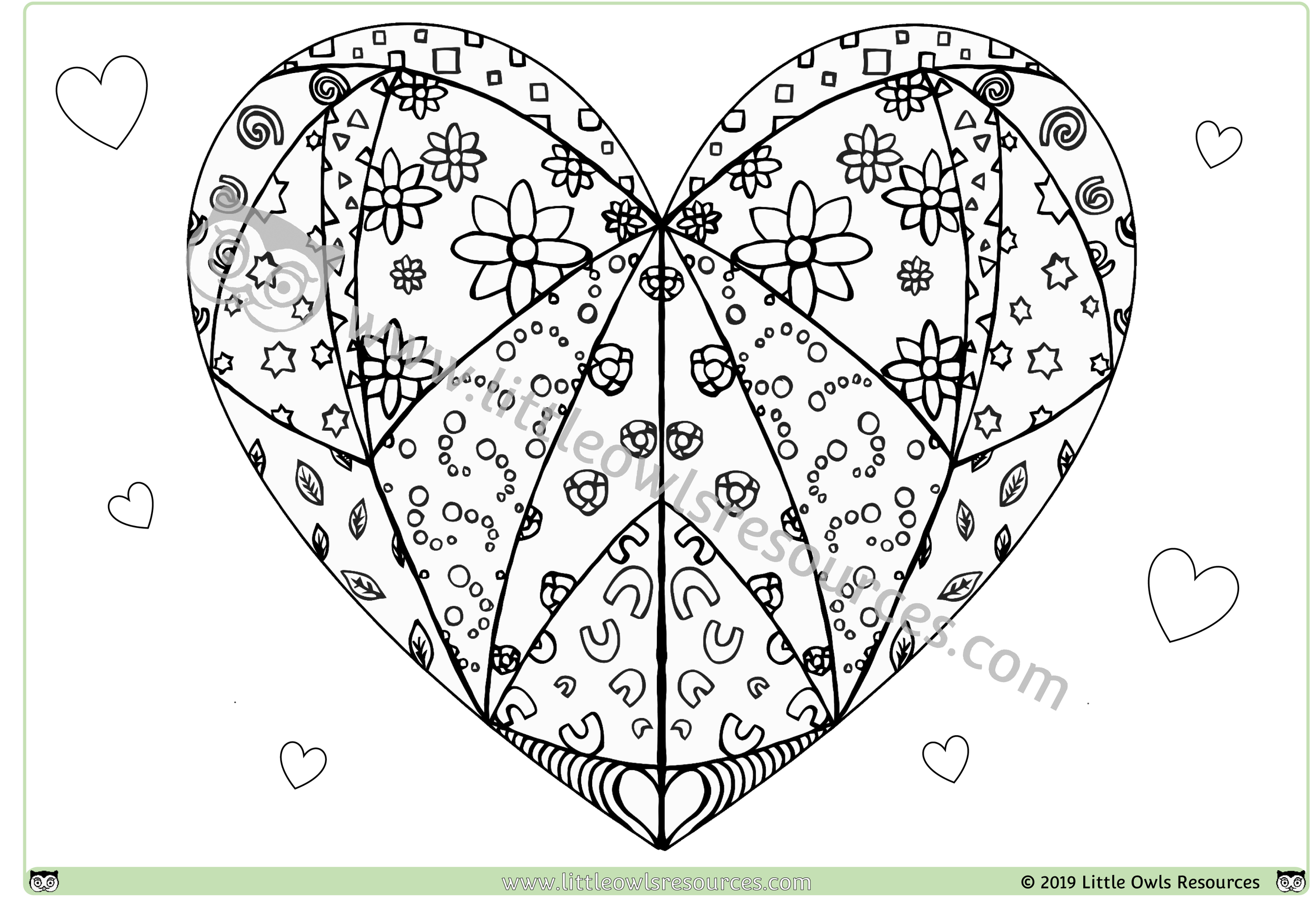 Heart Mindfulness Colouring -