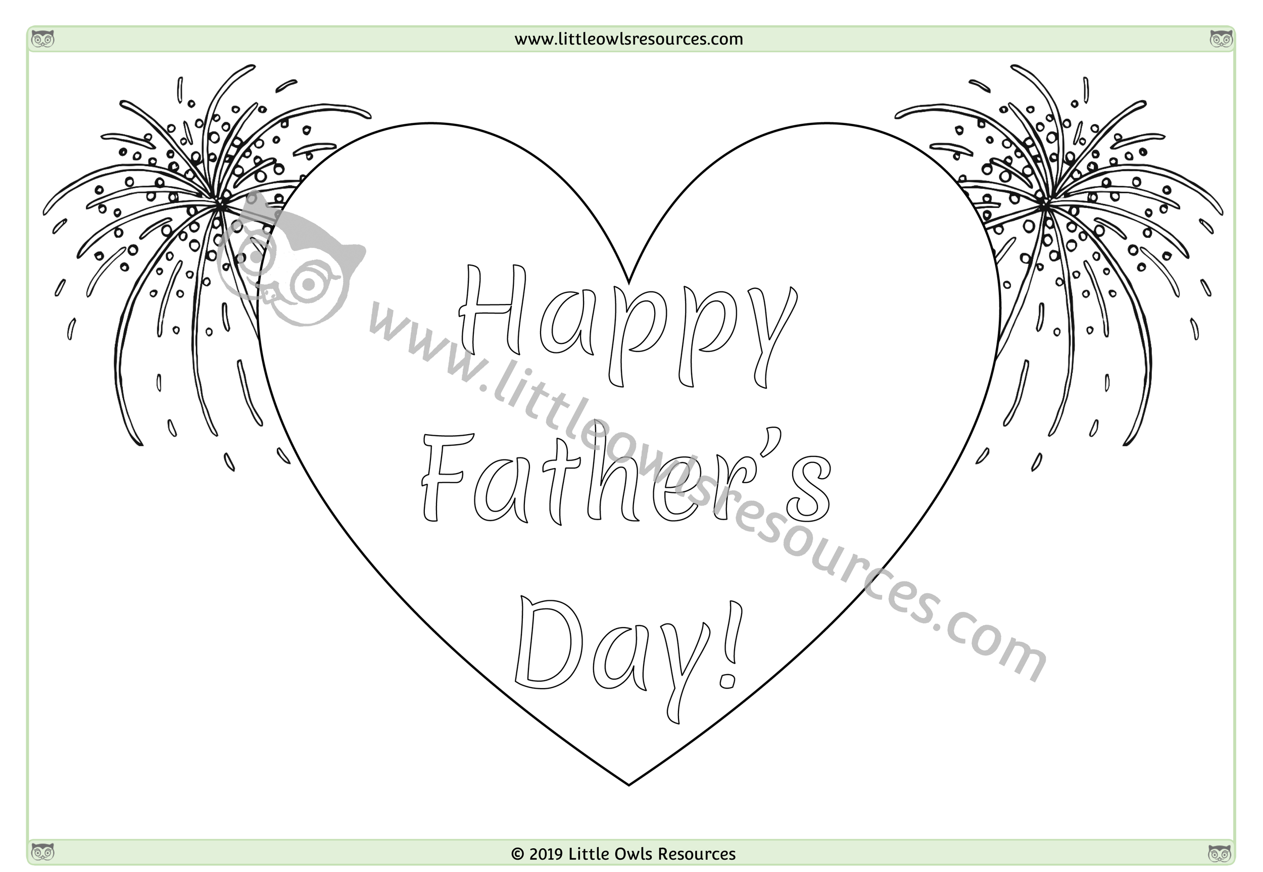 Father's Day Colouring 1 -