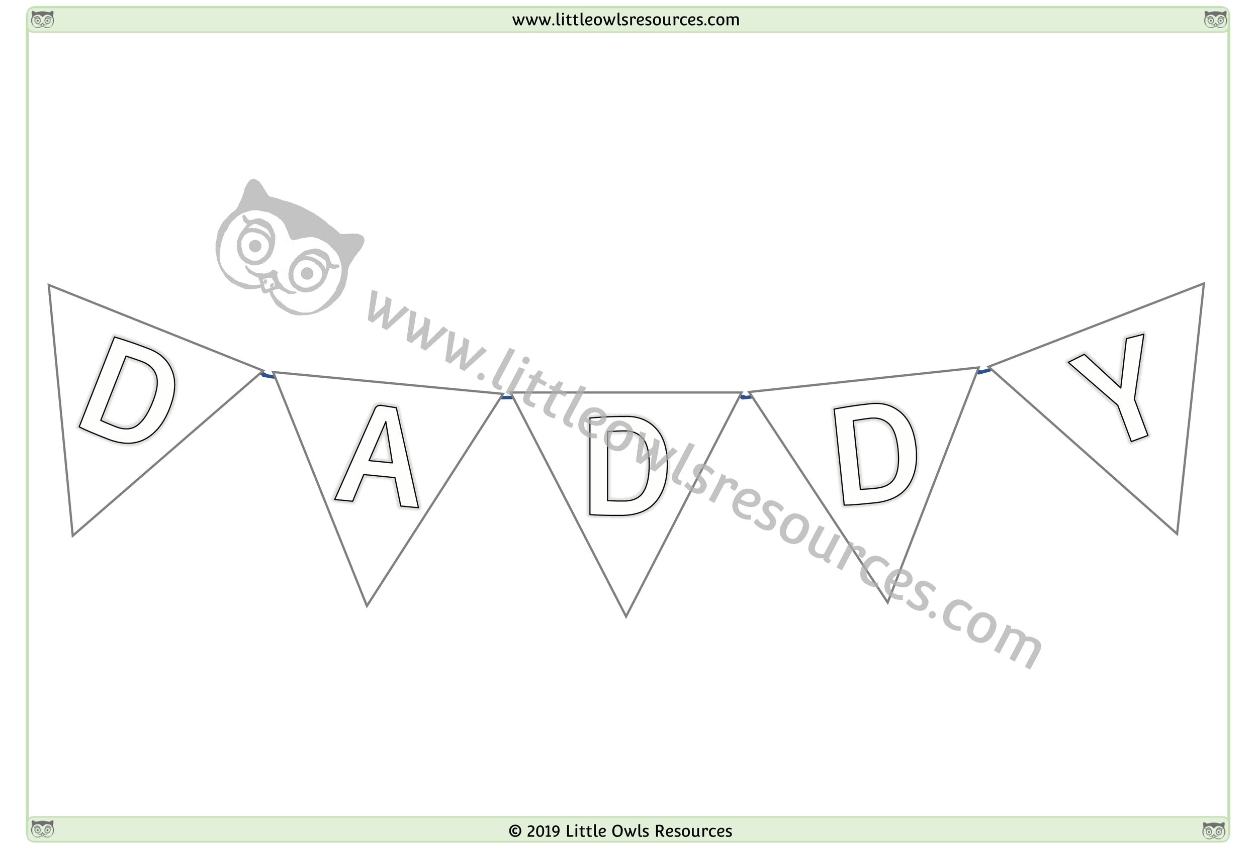 Father's Day Colouring 4 -