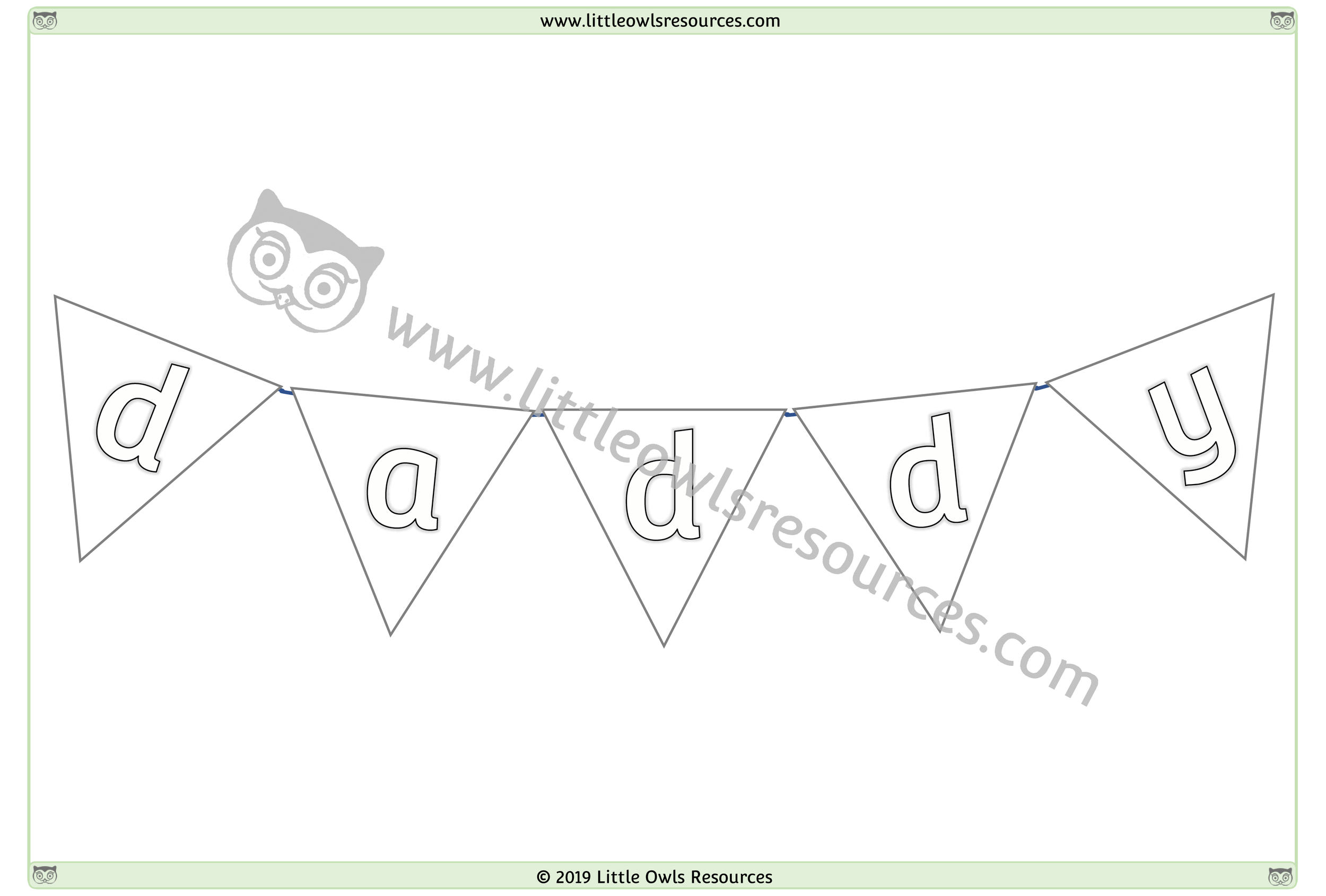 Father's Day Colouring 5 -