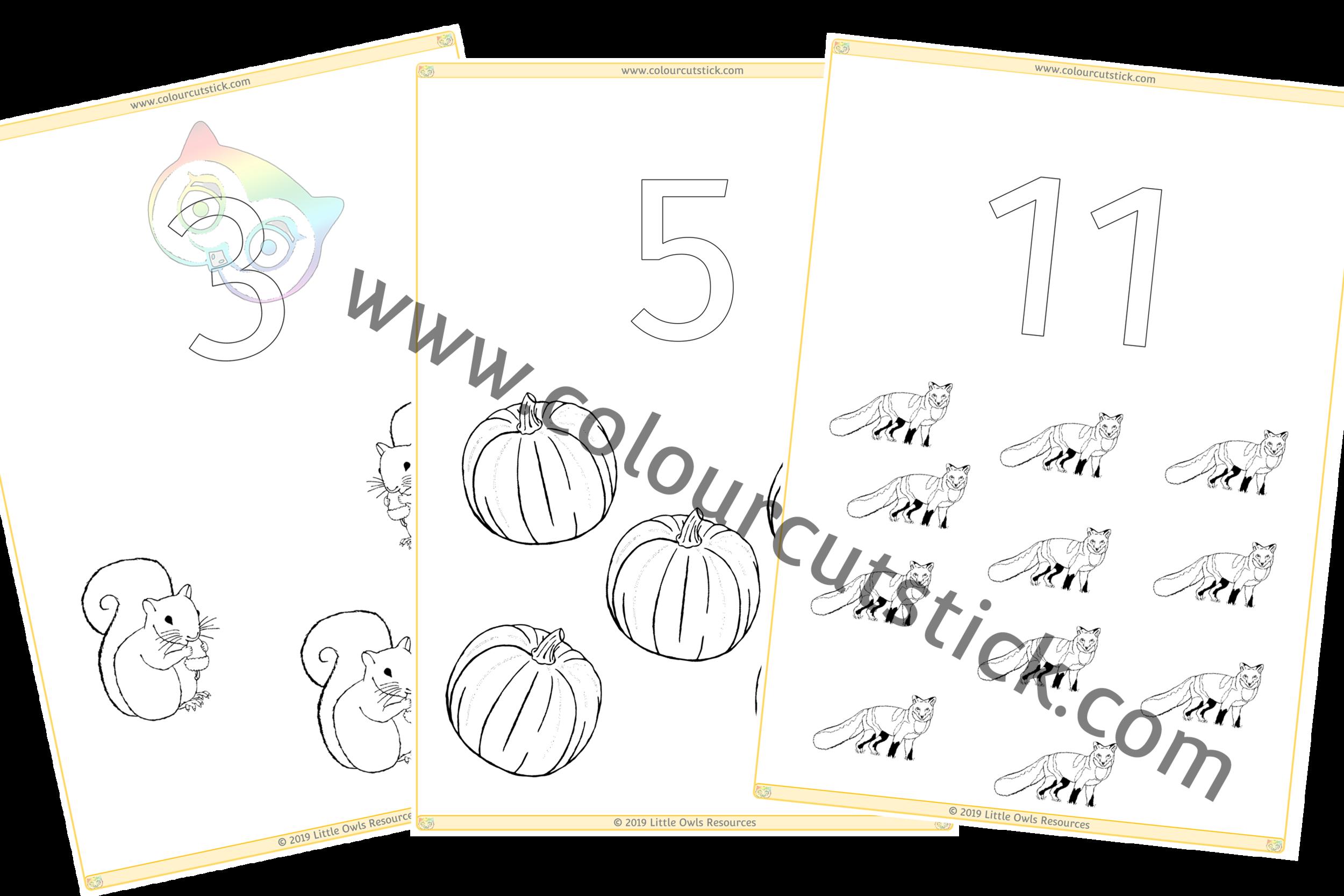 1-20 Autumn Colour & Count PACK -