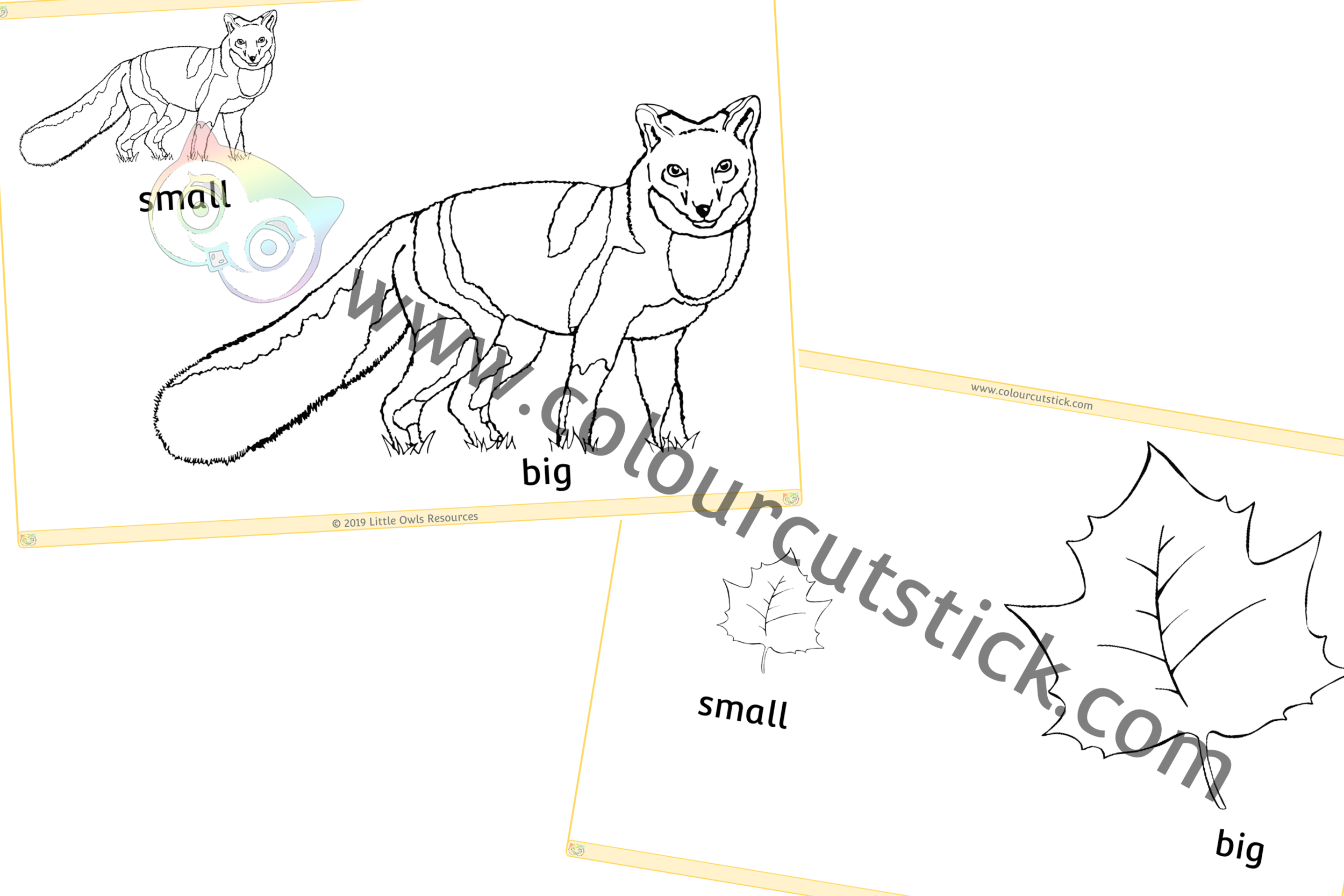 Autumn Big & Small Colouring PACK -