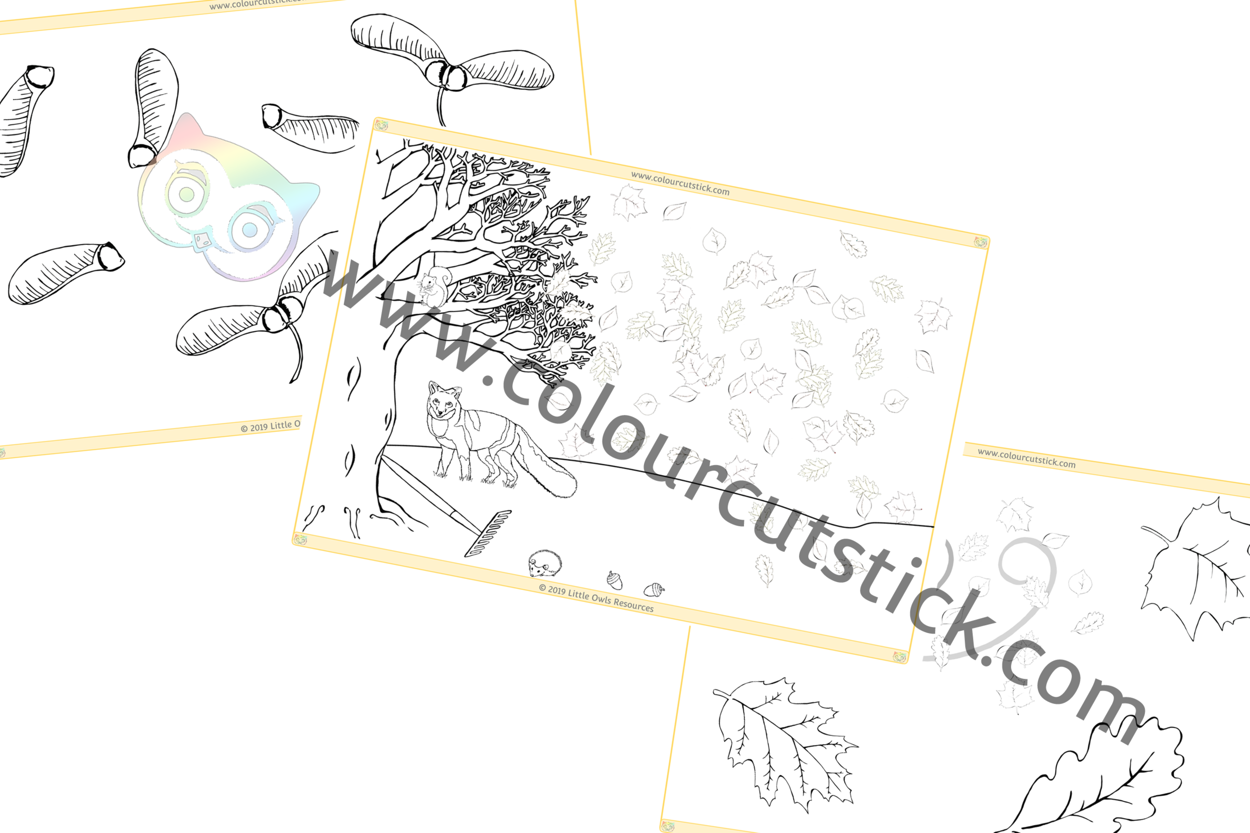 Autumn Colouring PACK -