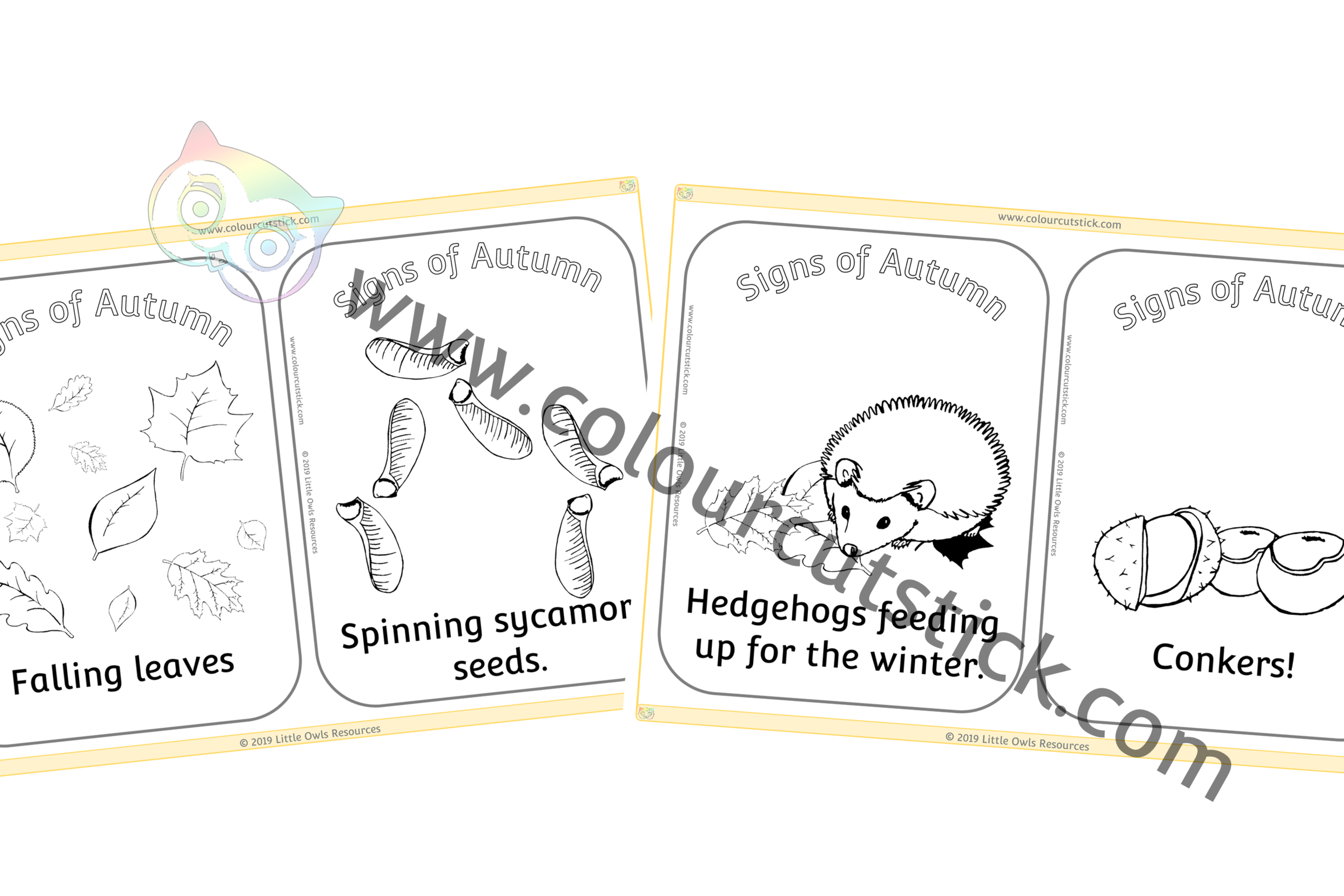 'Signs of Autumn' Colouring Posters PACK -