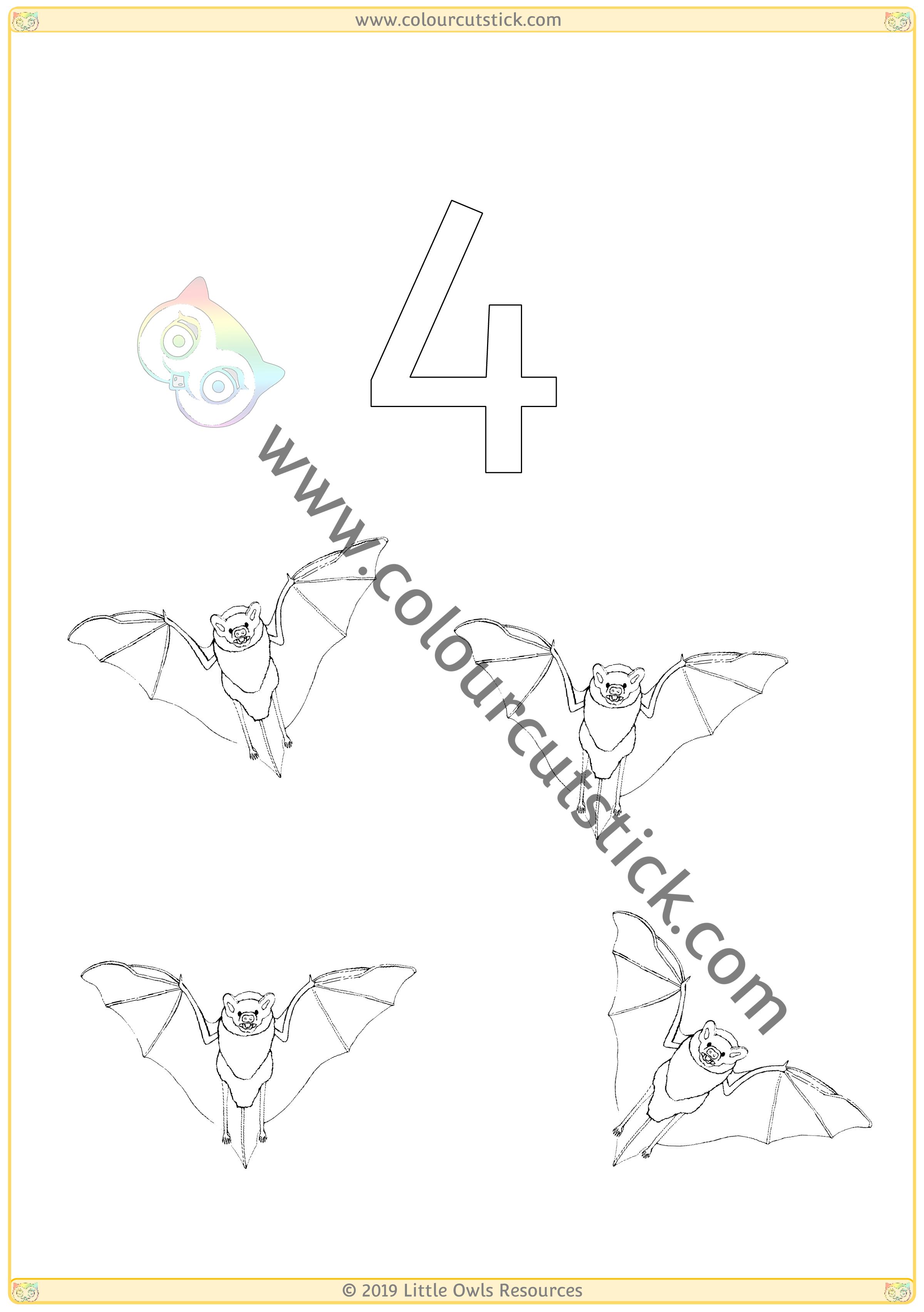 Autumn Colour & Count Poster - Four -
