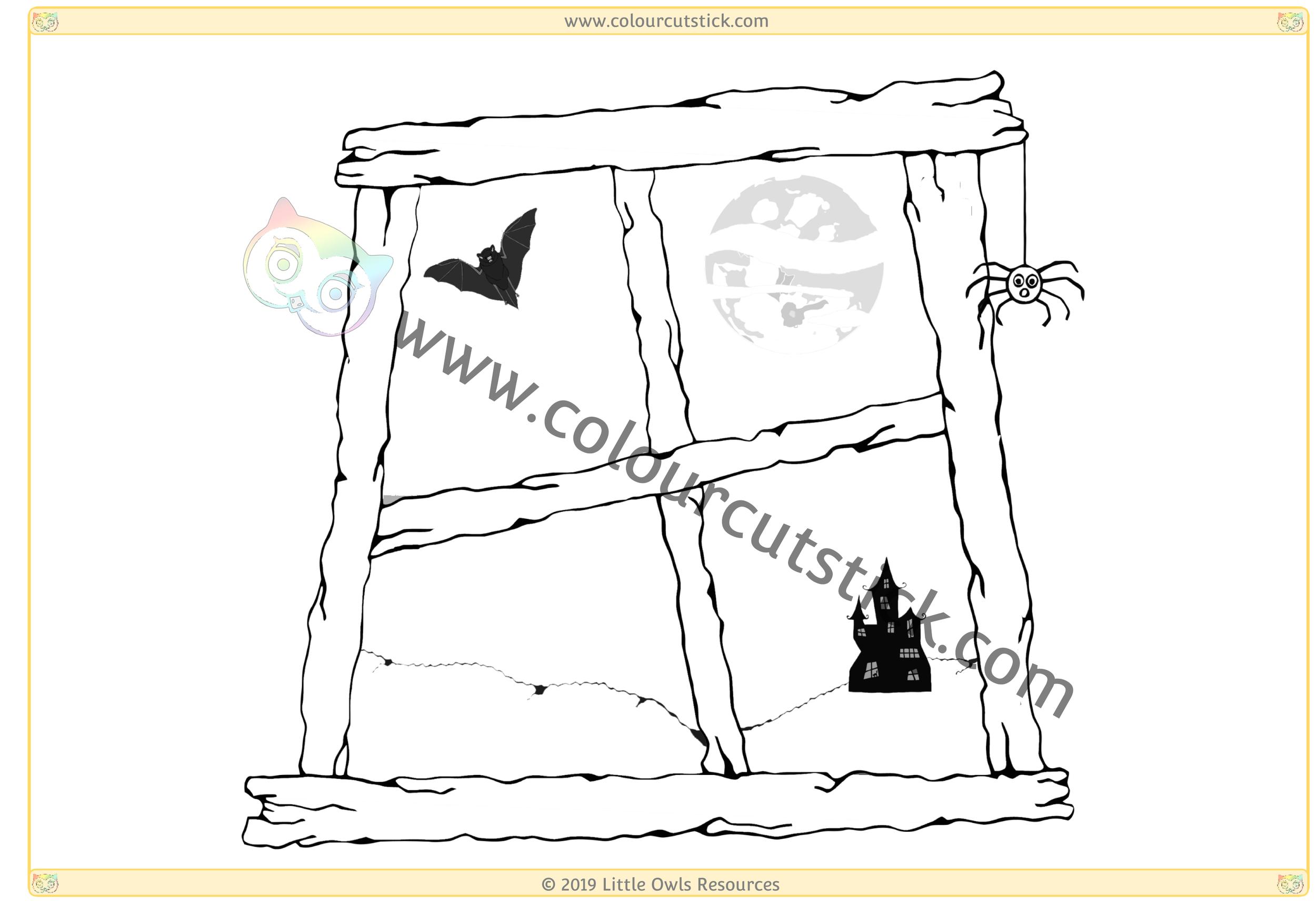 Halloween Window 1 -