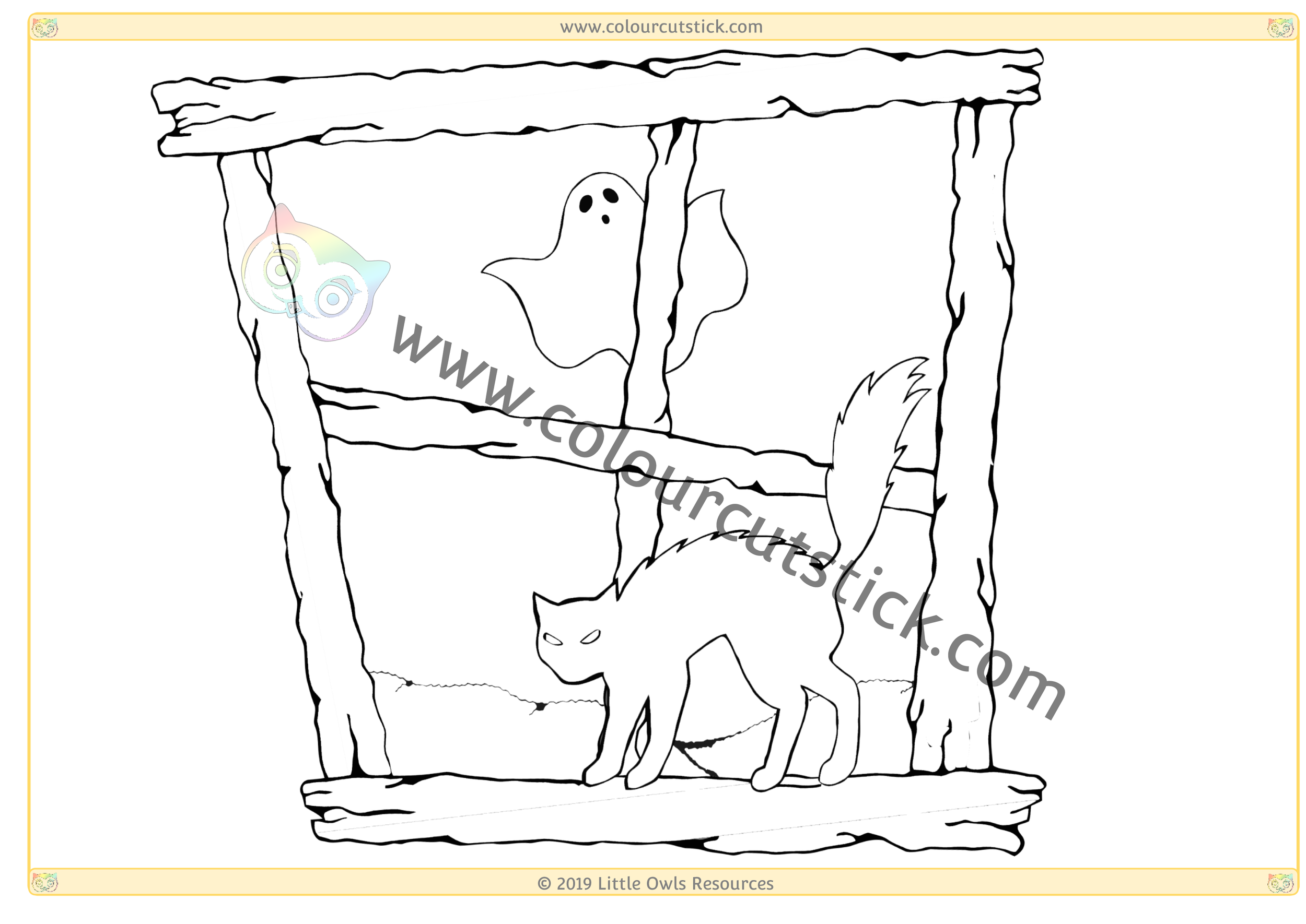 Halloween Window 3 -