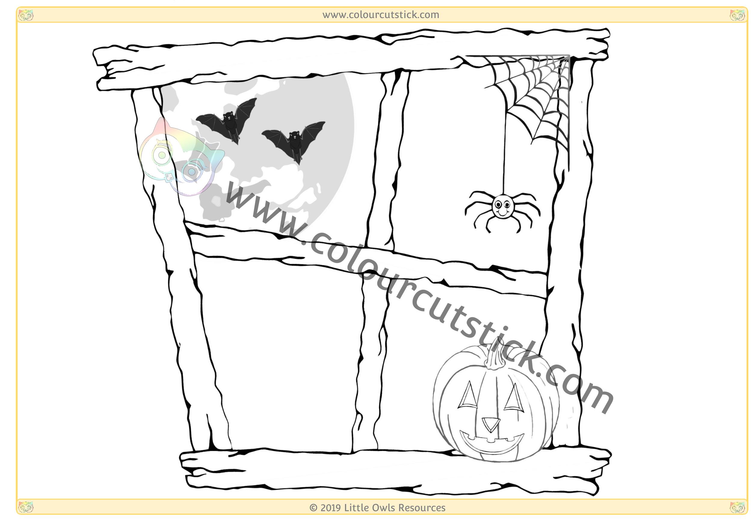 Halloween Window 4 -