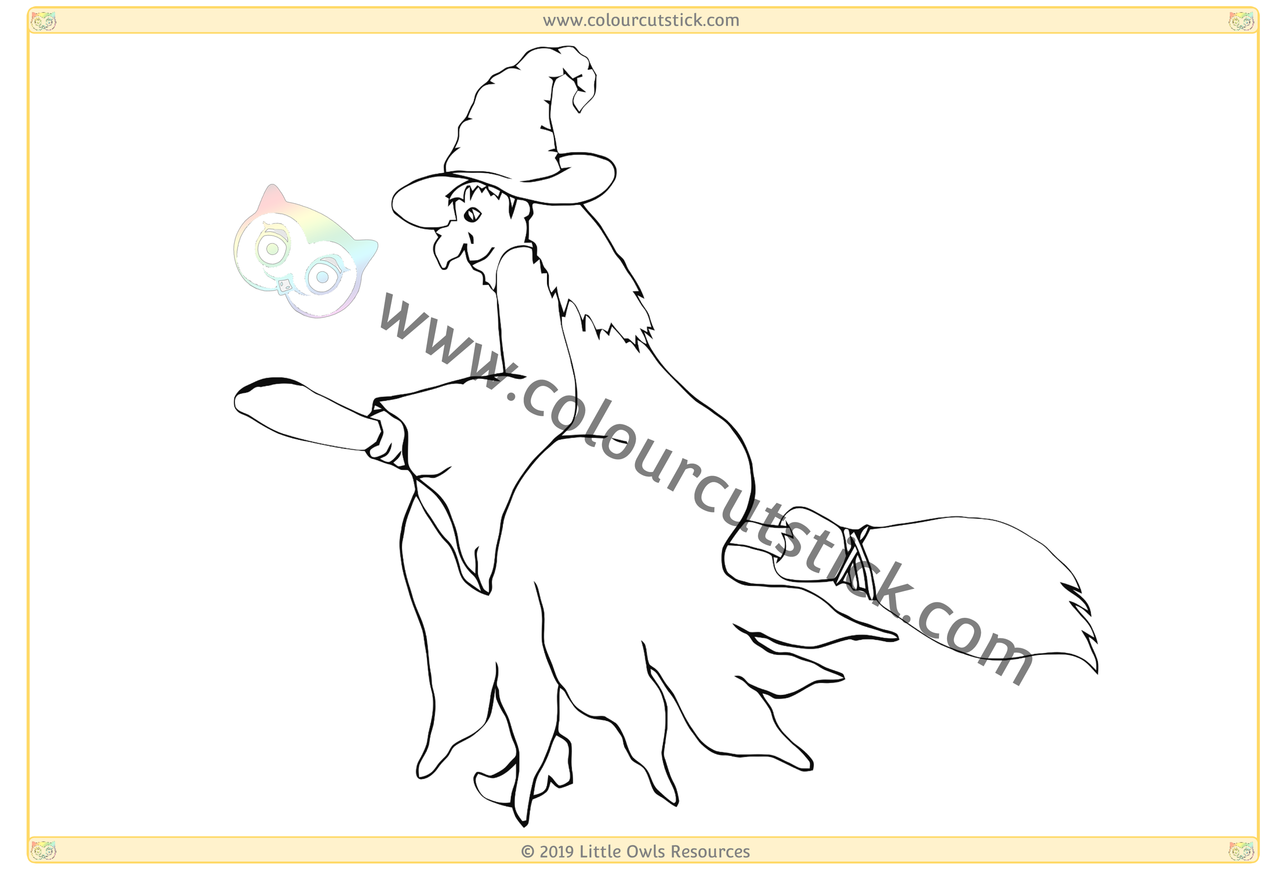 Witch on Broomstick -