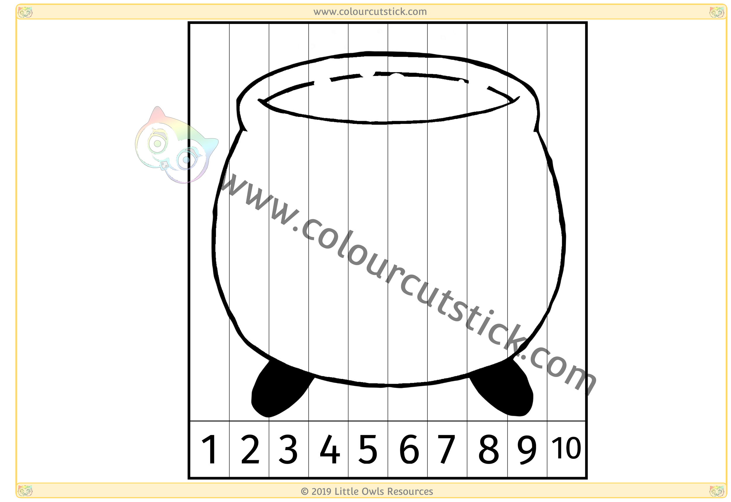 Cauldron Number Slice Puzzle 1-10 -