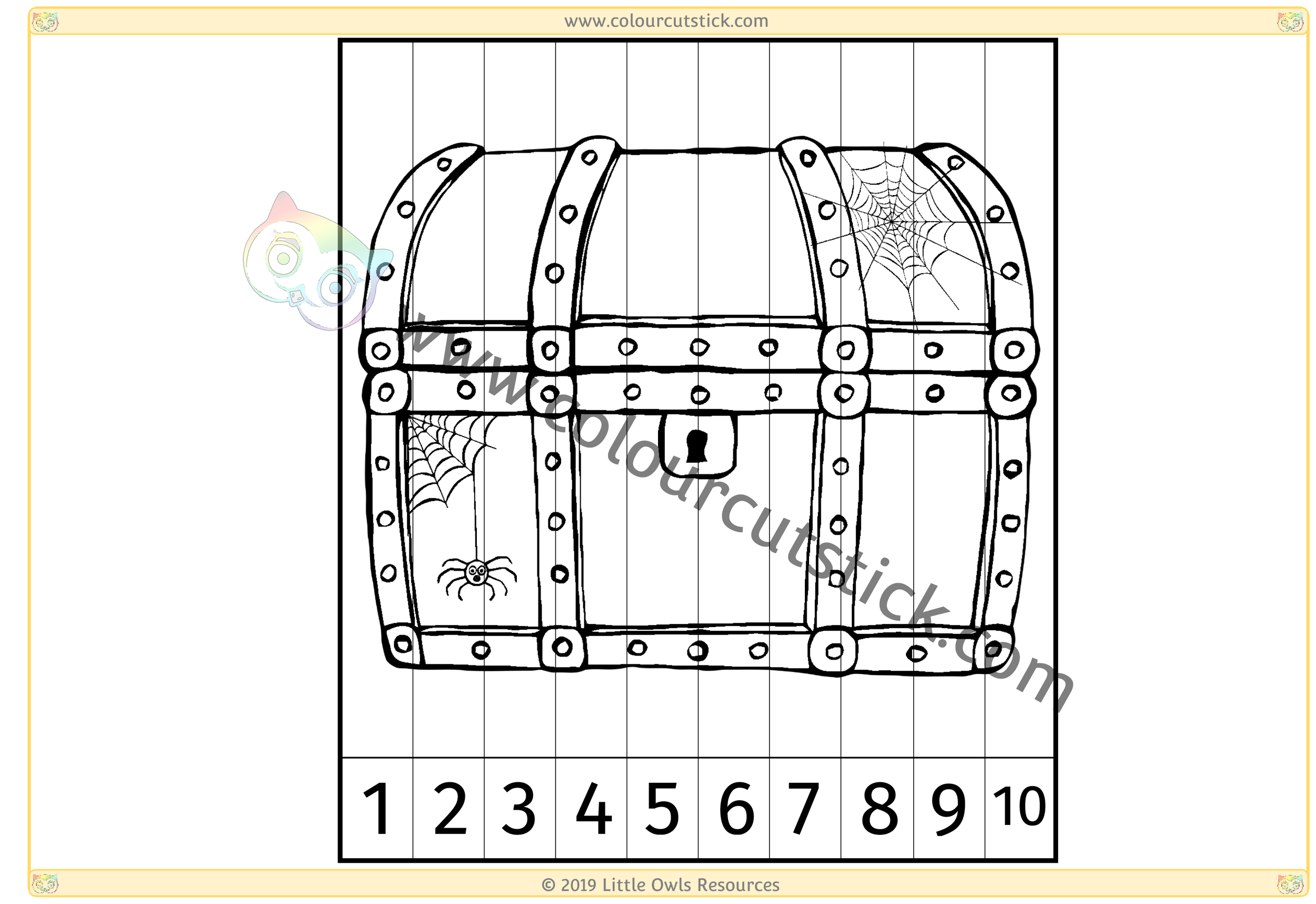 Spooky Chest Number Slice Puzzle 1-10 -