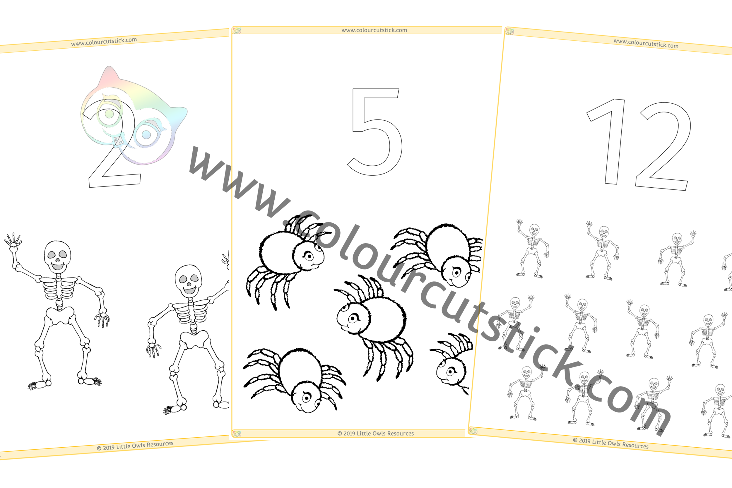 1-20 'Halloween' Colour & Count PACK -
