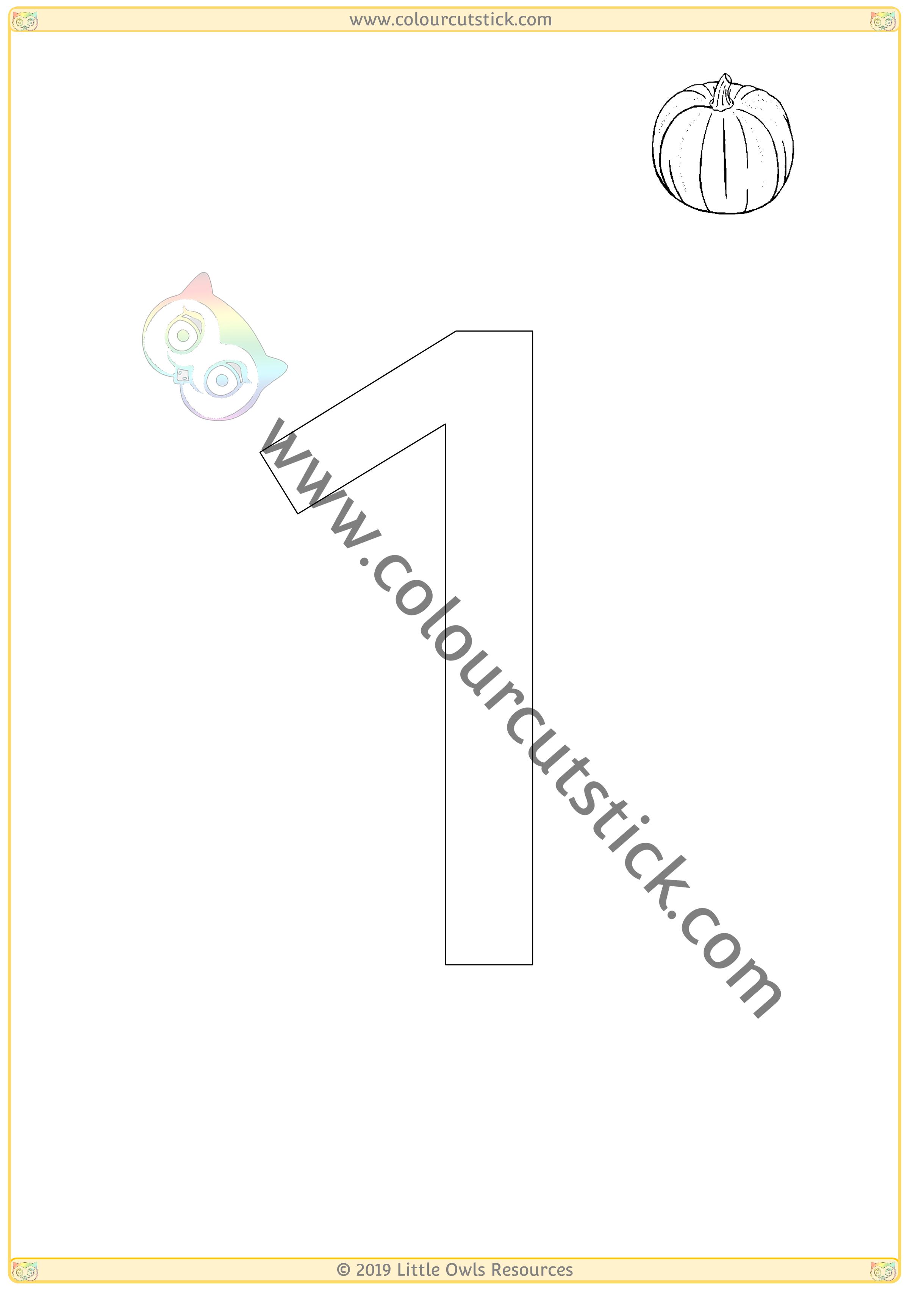 Pumpkin Colour & Count Poster - One -