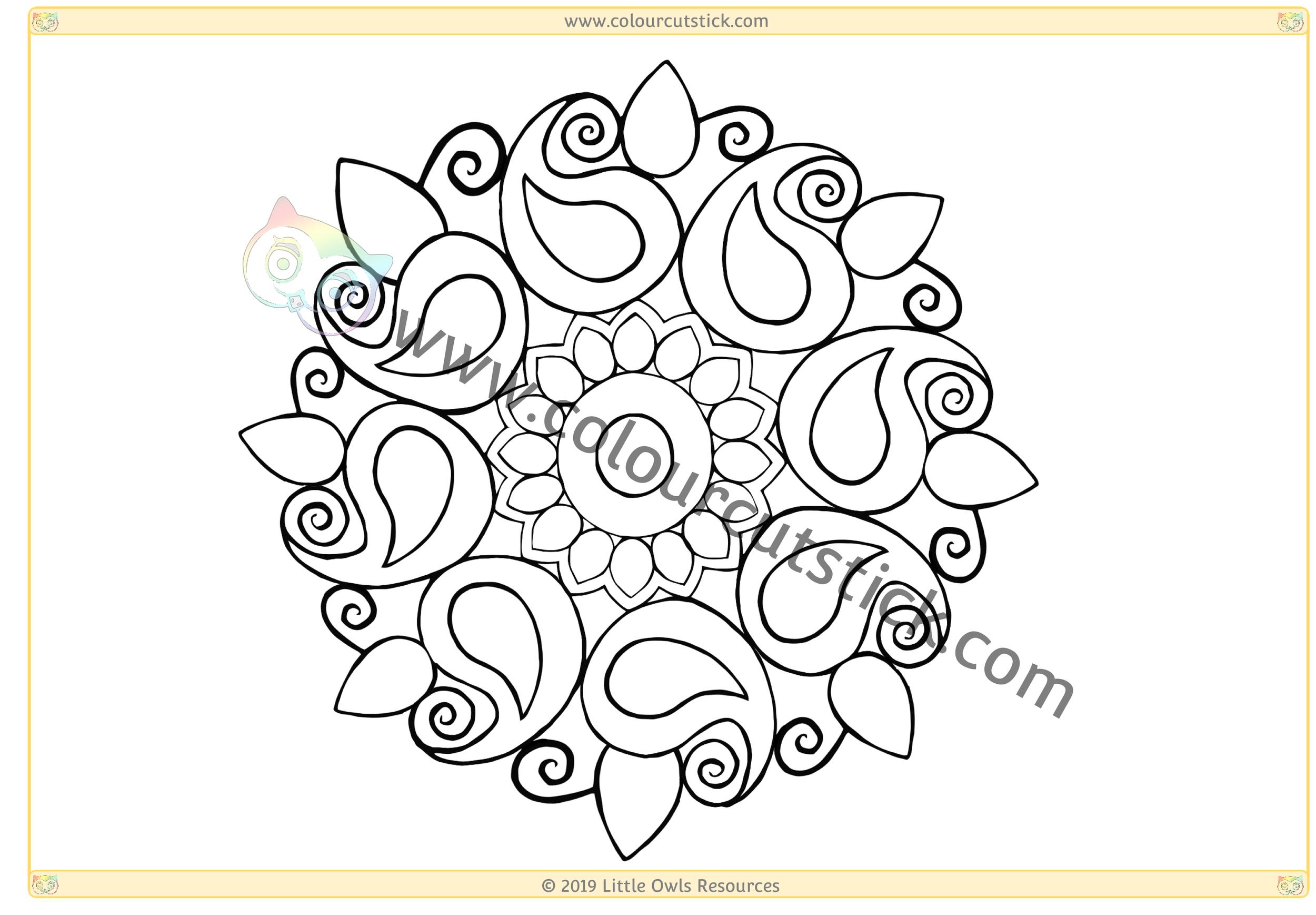 Diwali Colouring CSS 5