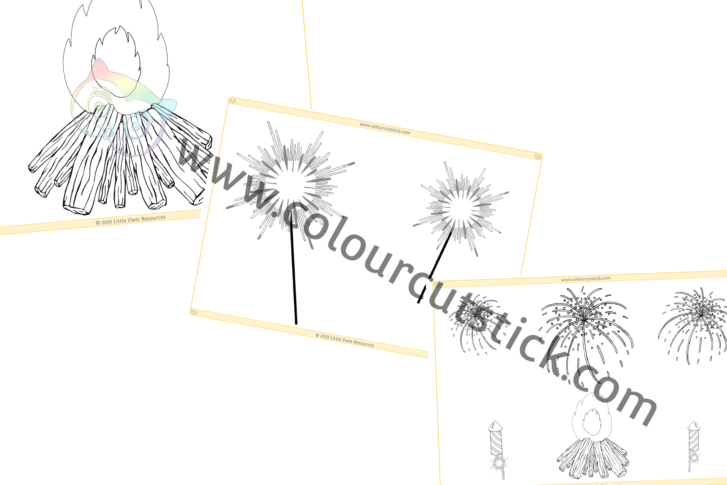 Fireworks Colouring PACK -