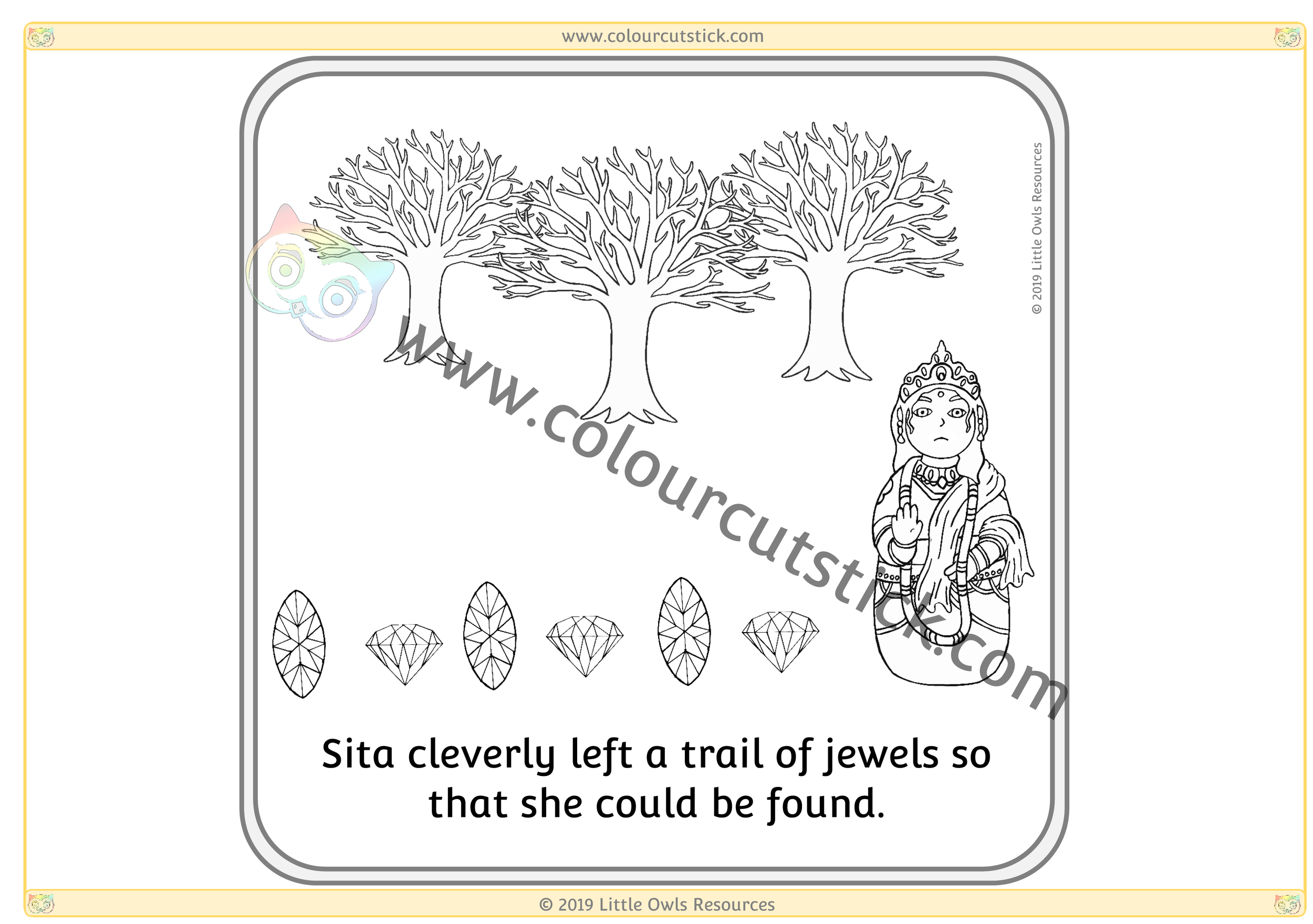 Diwali Story Sequence Card 4 -