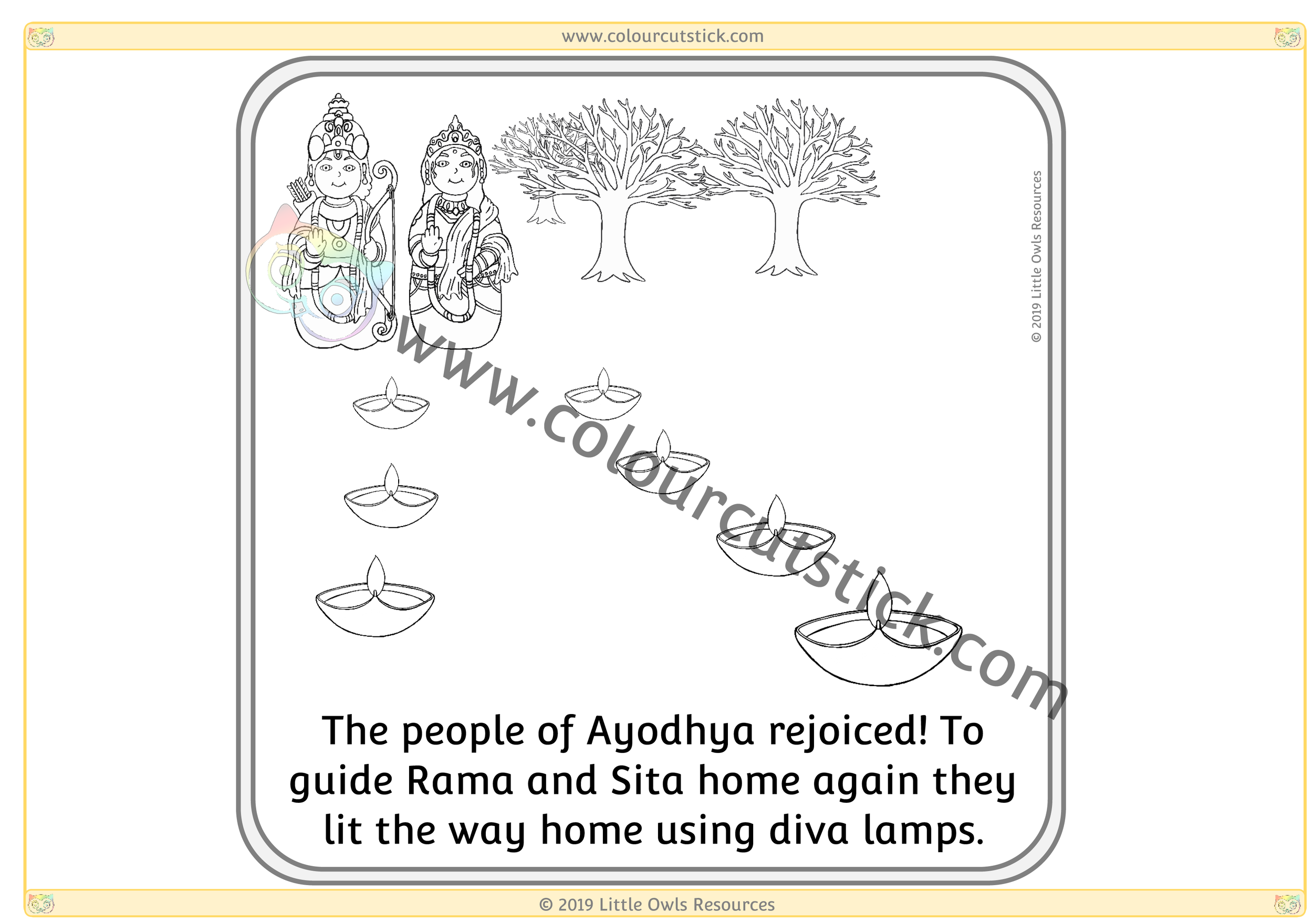 Diwali Story Sequence Card 7 -