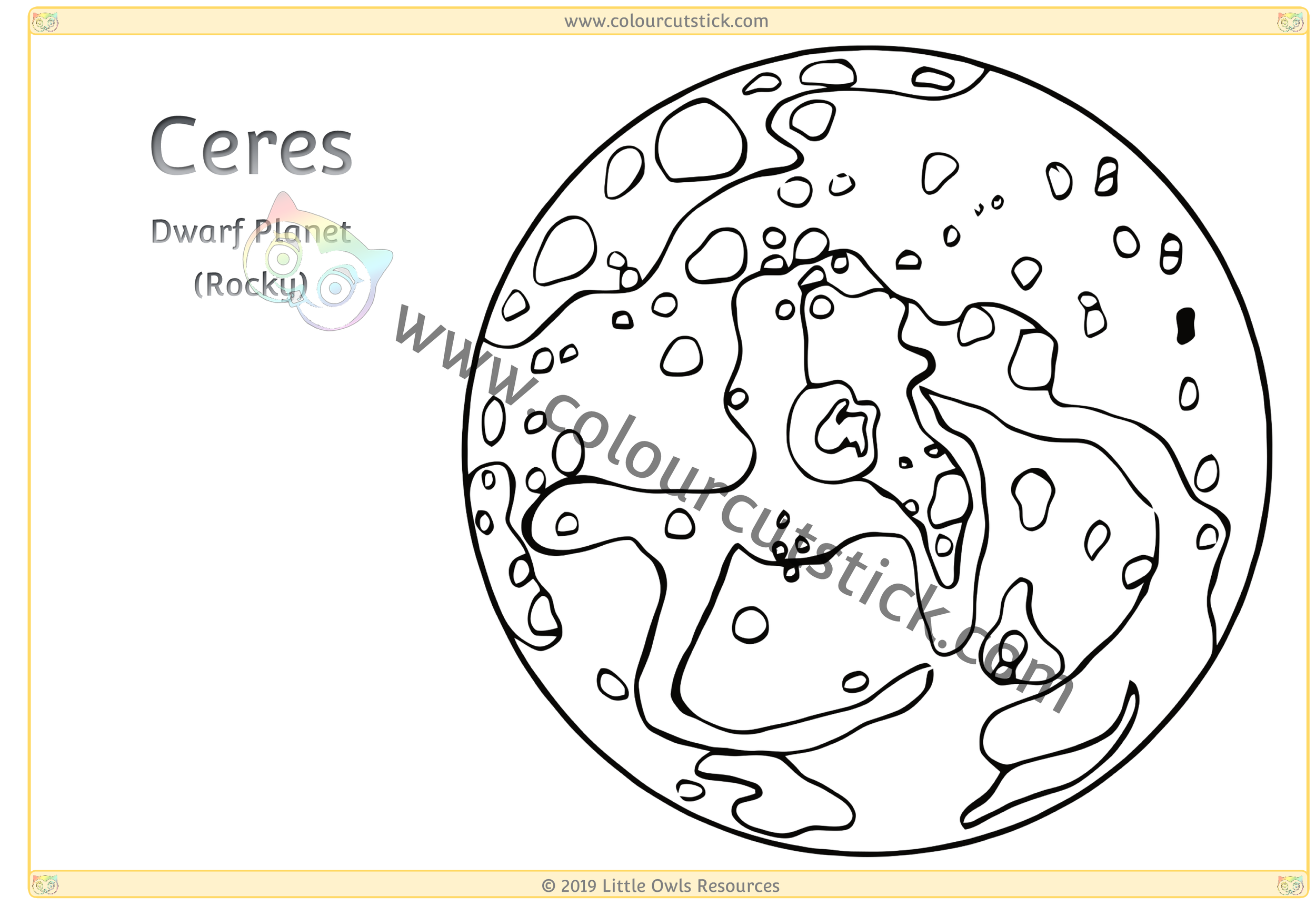 Printable Planet Coloring Pages For Kids | 687x1000