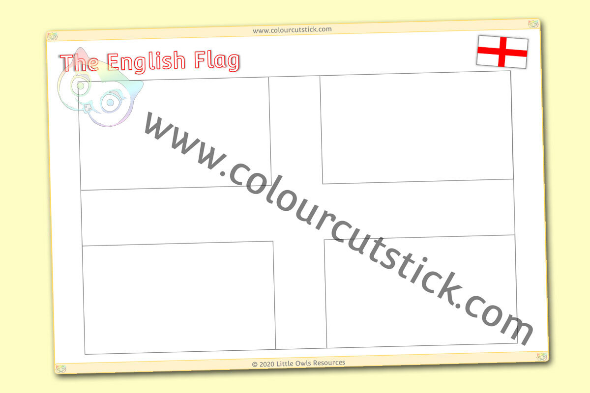 - FREE St George's Day Colouring/Coloring Pages - English Flag, Lion & Rose  Symbols — Colour Cut Stick - FREE Colouring Activities
