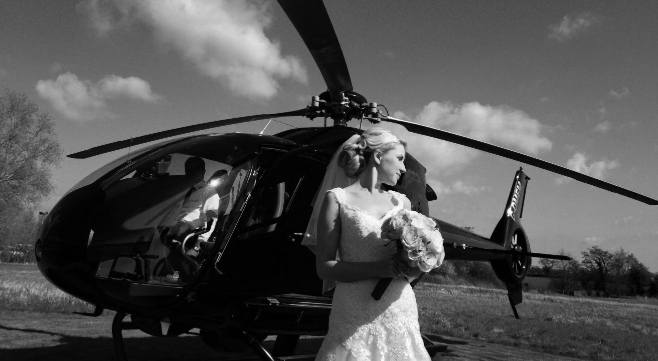 The icing on the cake… - Create an entrance to remember, wow your guests, beat the traffic, make an unforgettable day even more special and arrive in style by helicopter.