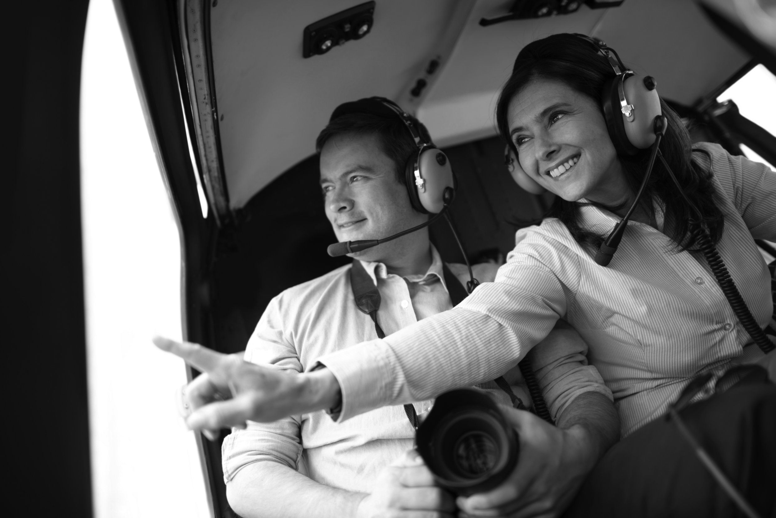 A birthday helicopter flight - What better way to celebrate your birthday than a helicopter charter flight over your local area or take the controls as part of a trial lesson.
