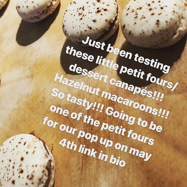 Hazelnut macaroon testing for may 4th pop up @tart.london tasty 😋 #foodie #foodporn #dessert #desserts #hazelnut #chocolate #ganache #becausefood #finedining #freshisbest #6course #dinner #canapes #petitfours