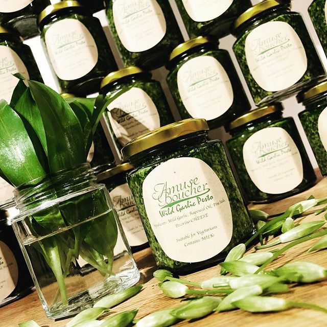 Proud to present our first line of goods up for sale! Wild garlic pesto! £6 a jar at 163g I dare you to find it cheaper! Vegan option available end of this week, DM if your interested, online store coming soon!!! #wildgarlic #wildgarlicpesto #herbs #foodie #tasty #seasonal #foraging #freshisbest #homemade