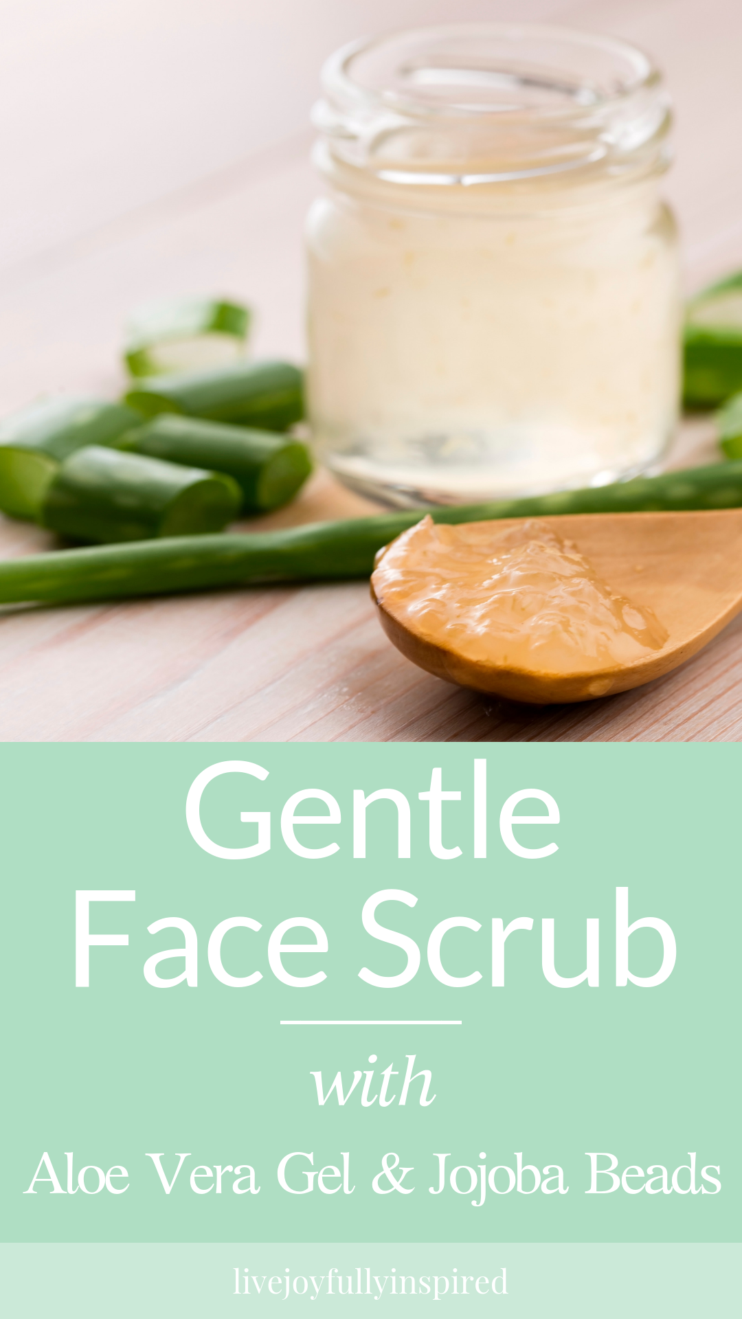 Have you been looking for an easy DIY face scrub made for sensitive skin?  Then look no further because I've got you covered. If you have sensitive skin and need an every day gentle facial scrub with natural ingredients, then you're going to love this recipe. It's super easy to make and leaves your skin feeling soft and clean. #gentlefacescrub #diybeuty #aloevera