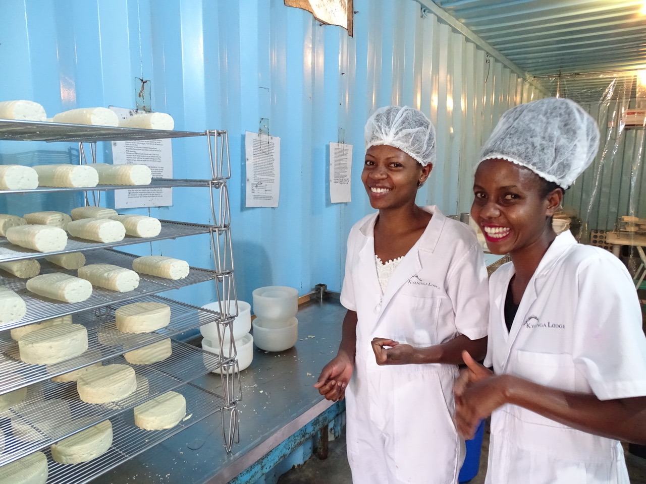 The cheese team in the dairy.