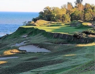 Helen's shot of the Whispering Straits course
