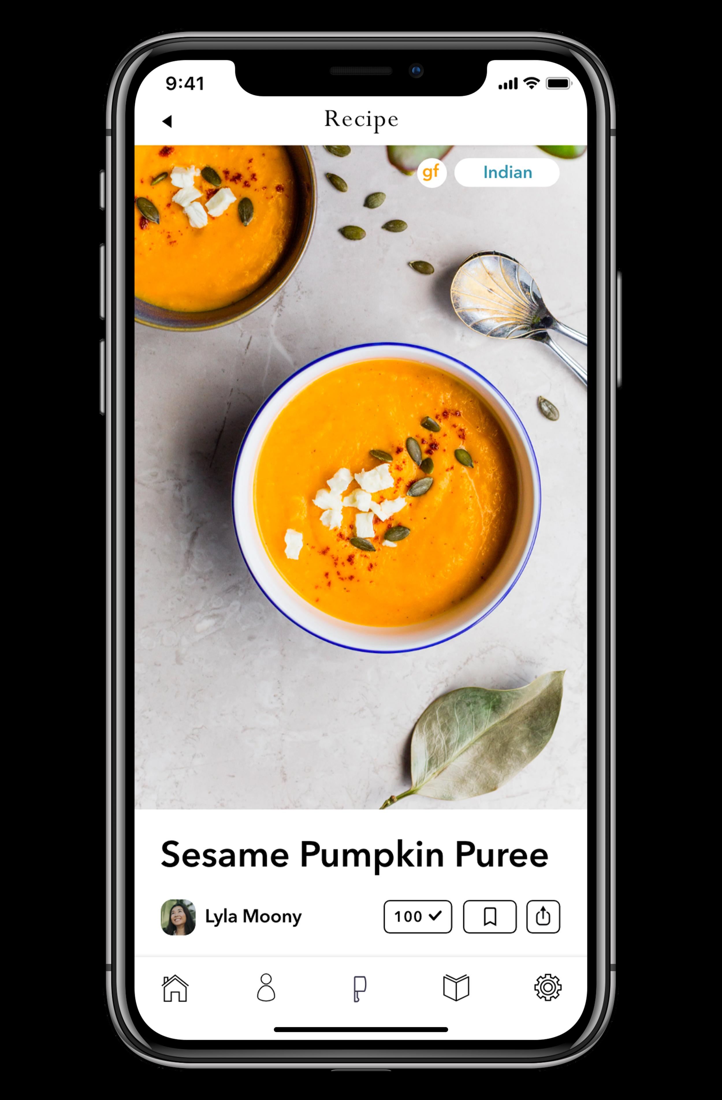 Mobile AppRecipe Page -