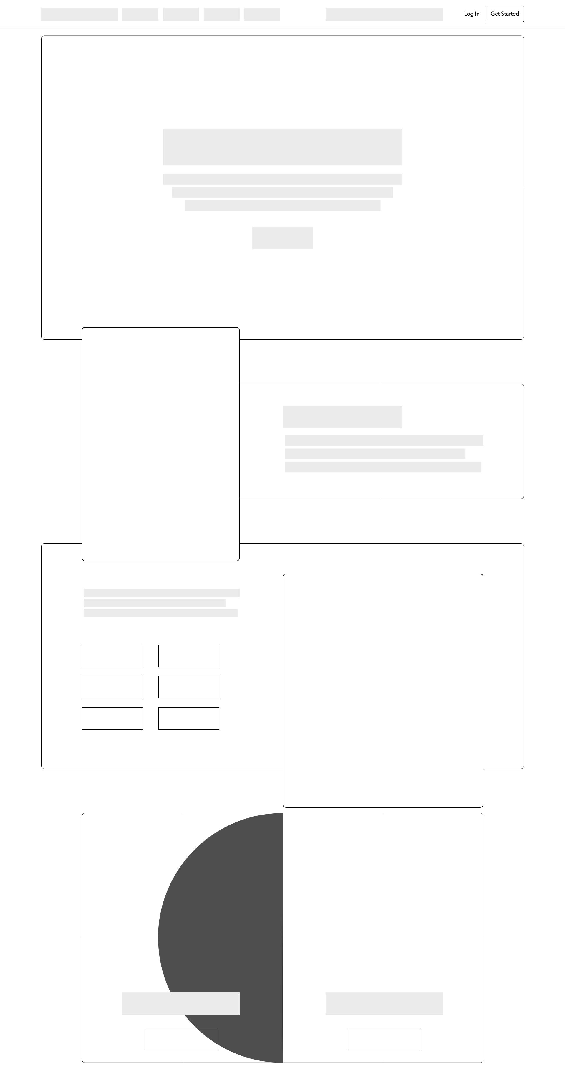 Homepage Wireframe -