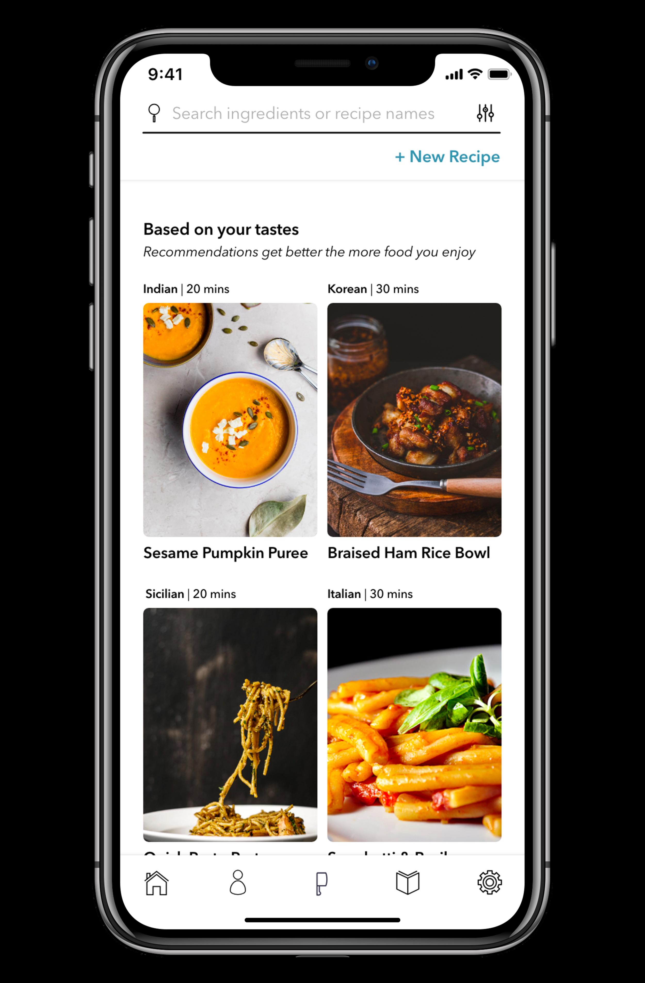 Mobile App Homepage -