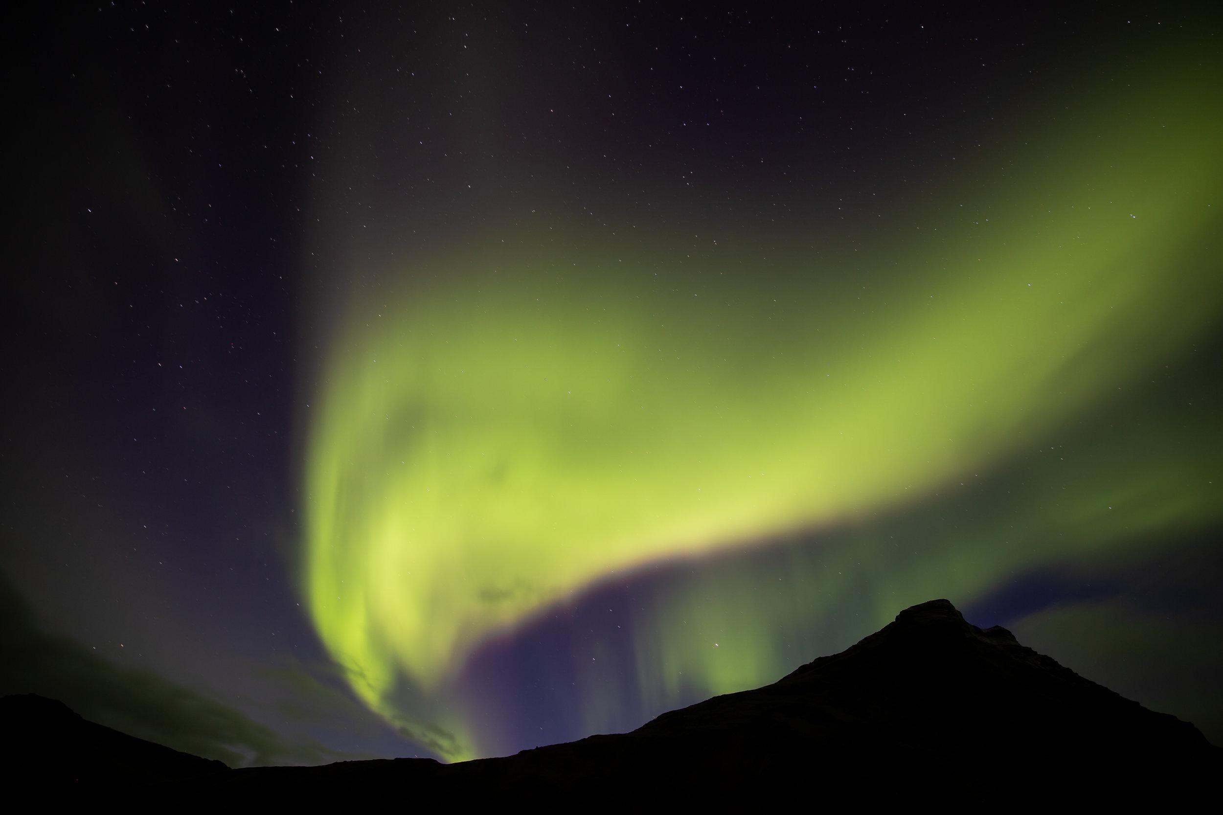 Auroras Boreales - Si las condiciones climatologicas lo permiten, en la noche estaremos disfrutando de este increíble fenómeno natural.