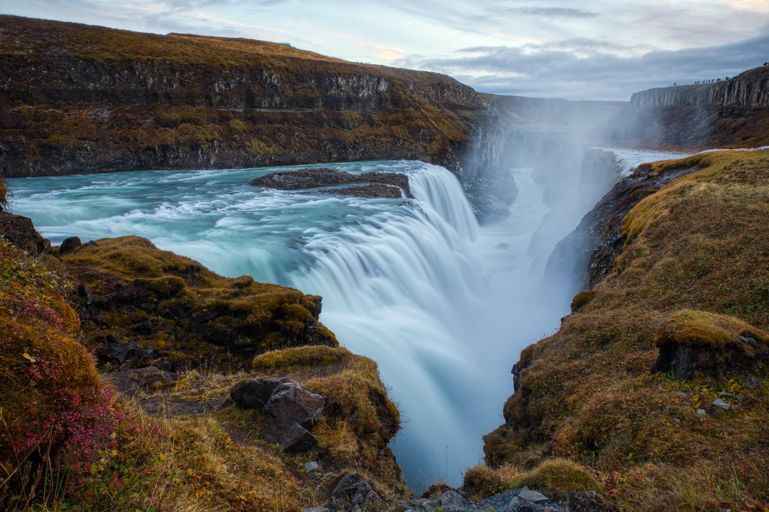Gullfoss - Una de las cascadas mas famosas de Islandia.