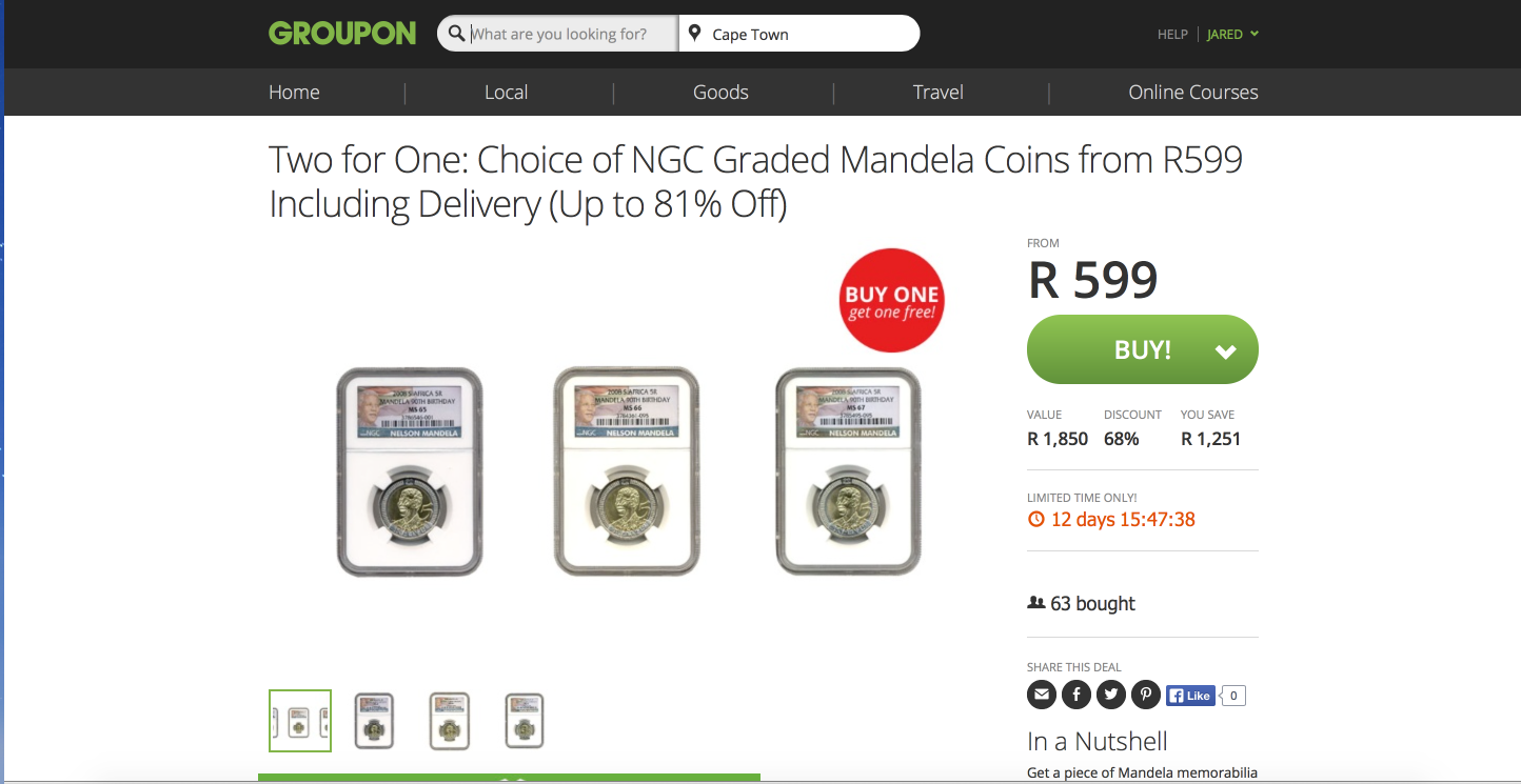When these were first on sale they were up to R3600 per coin 😒