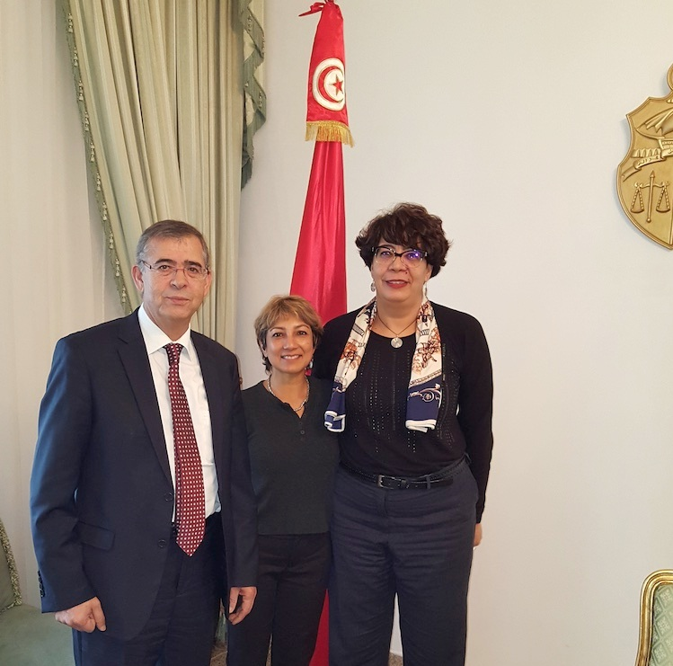 AIM Board Members Frej Fenniche and Ani Zonneveld presented a letter of support to President Essebsi of Tunisia for his equal inheritance for women and men initiative, received by Spokeswoman Saidah Garrache. The letter was co-signed by 48 Muslim organizations from all over the world.