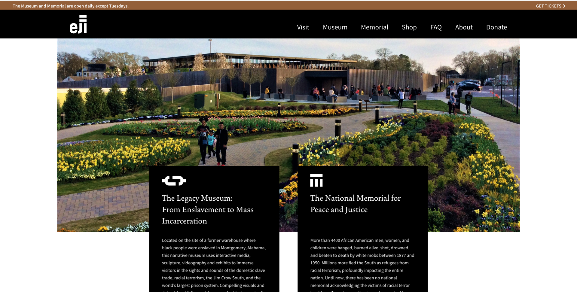 The Legacy Museum & The National Memorial for Peace & Justice