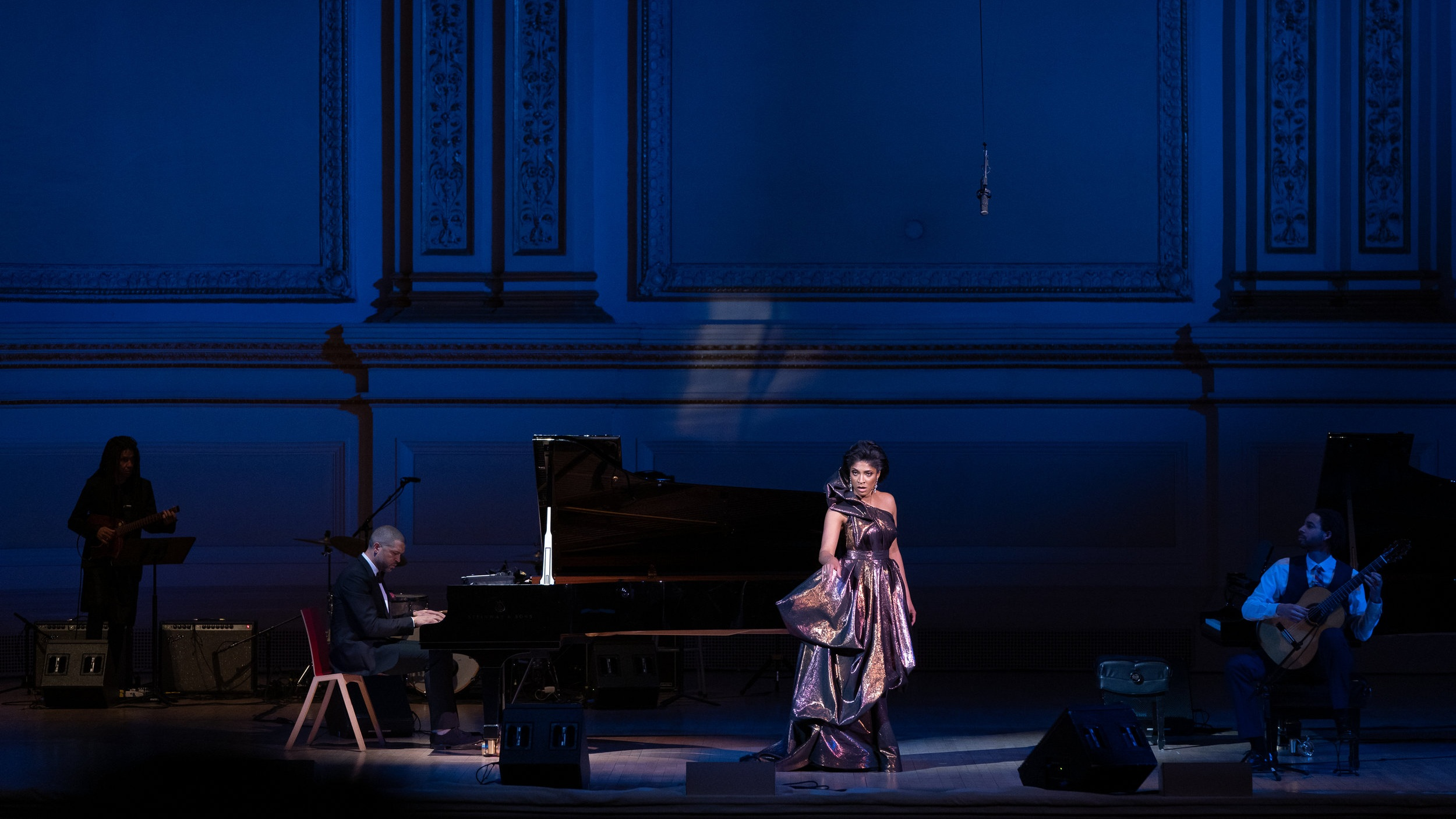 Alicia Hall Moran & Jason Moran at Carnegie Hall, photo by Fadi Kheir