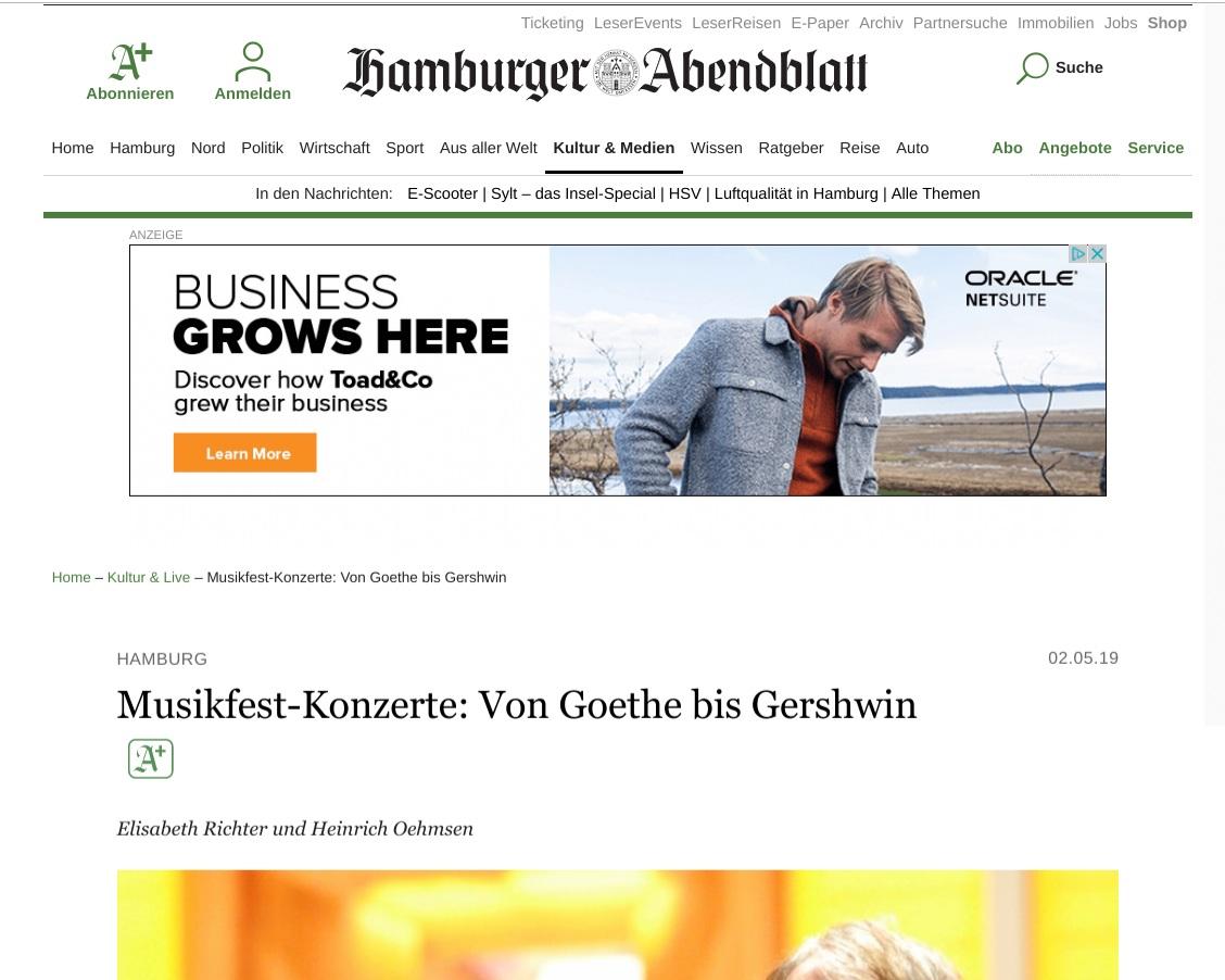Hamburger Abendblatt (Review)
